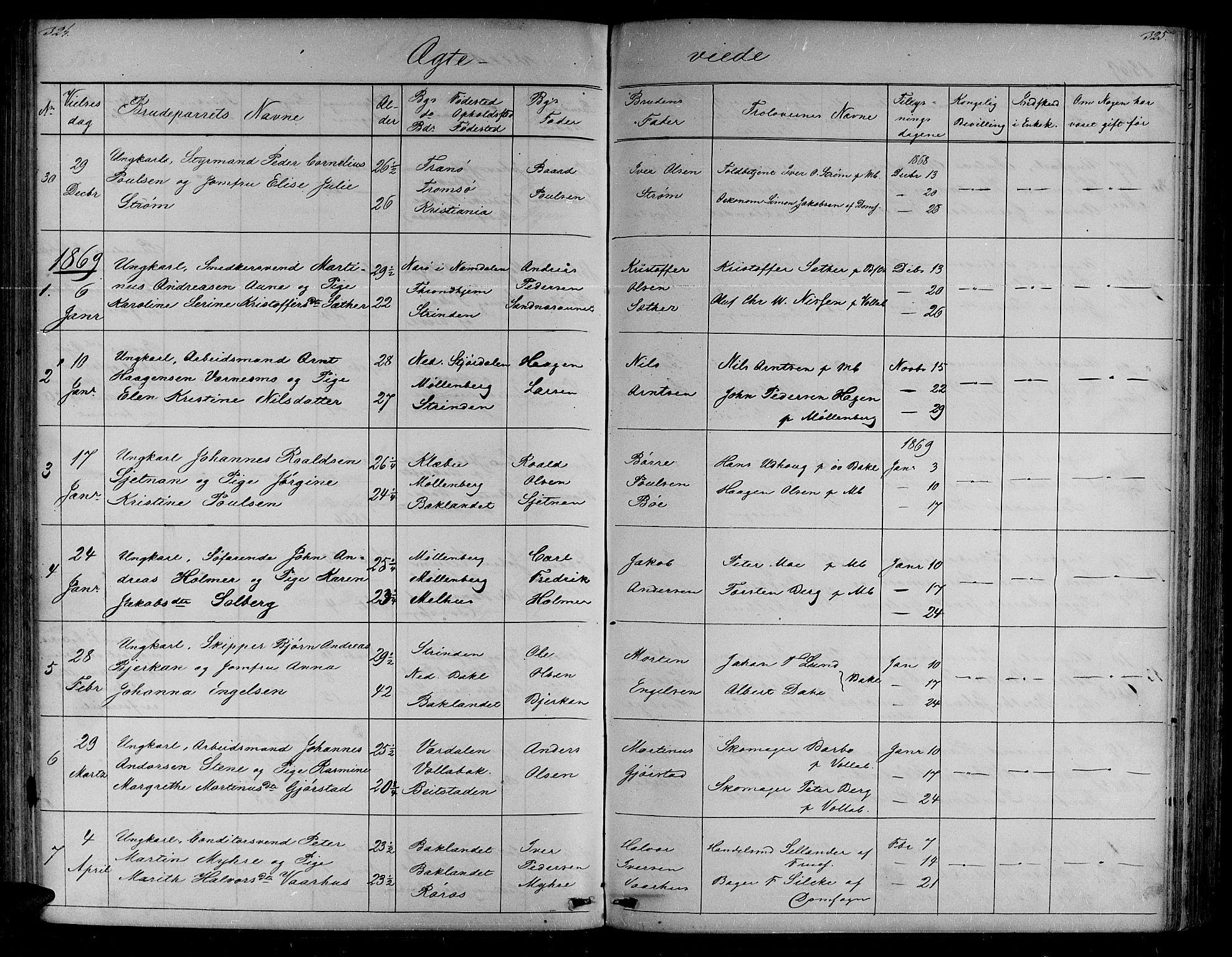 SAT, Ministerialprotokoller, klokkerbøker og fødselsregistre - Sør-Trøndelag, 604/L0219: Klokkerbok nr. 604C02, 1851-1869, s. 324-325