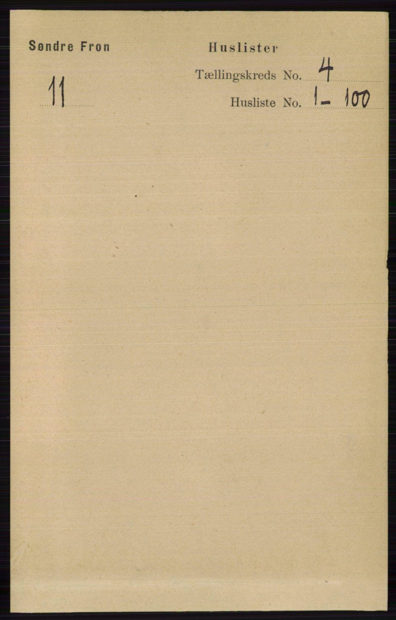 RA, Folketelling 1891 for 0519 Sør-Fron herred, 1891, s. 1311