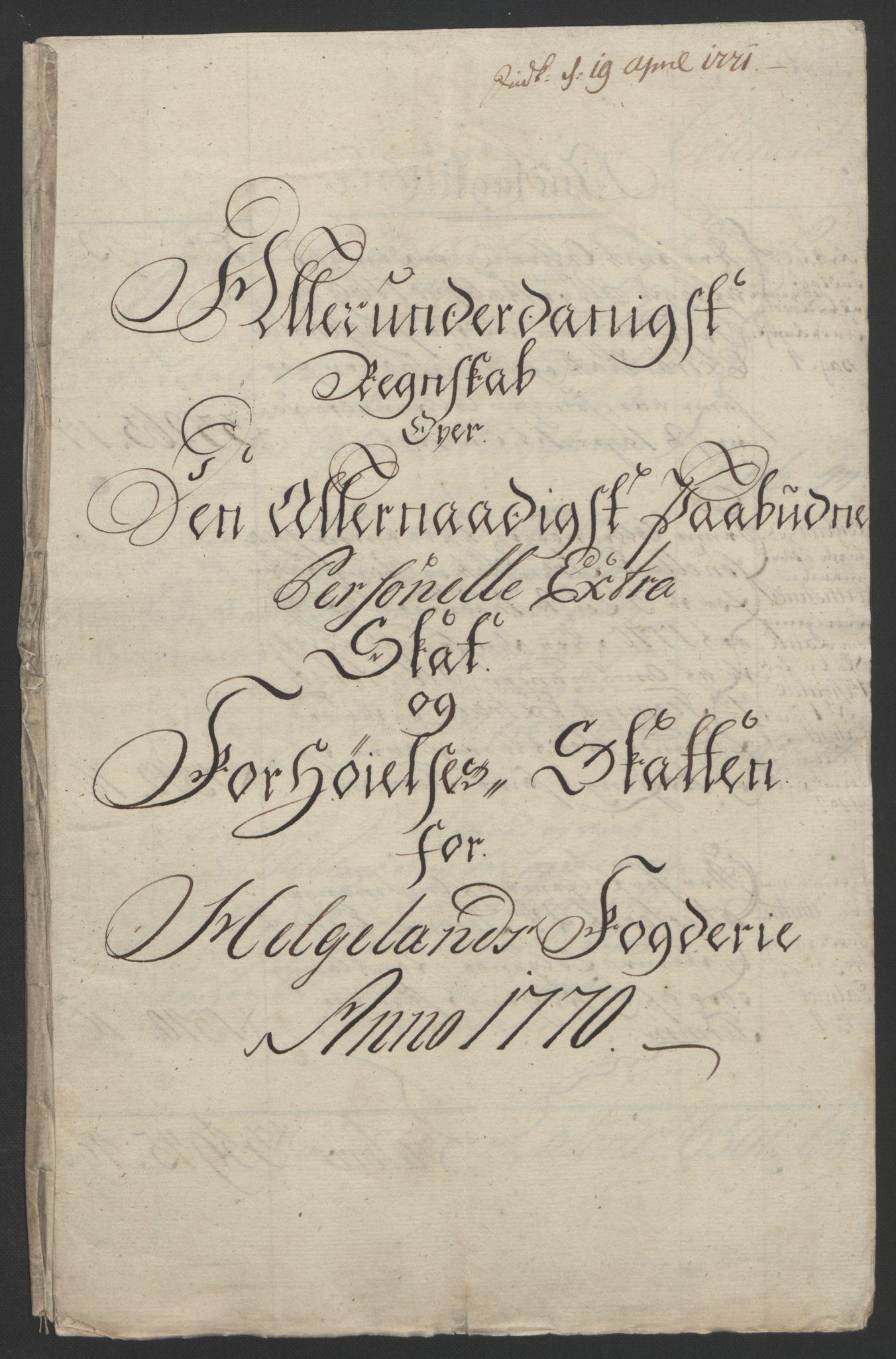 RA, Rentekammeret inntil 1814, Reviderte regnskaper, Fogderegnskap, R65/L4573: Ekstraskatten Helgeland, 1762-1772, s. 255