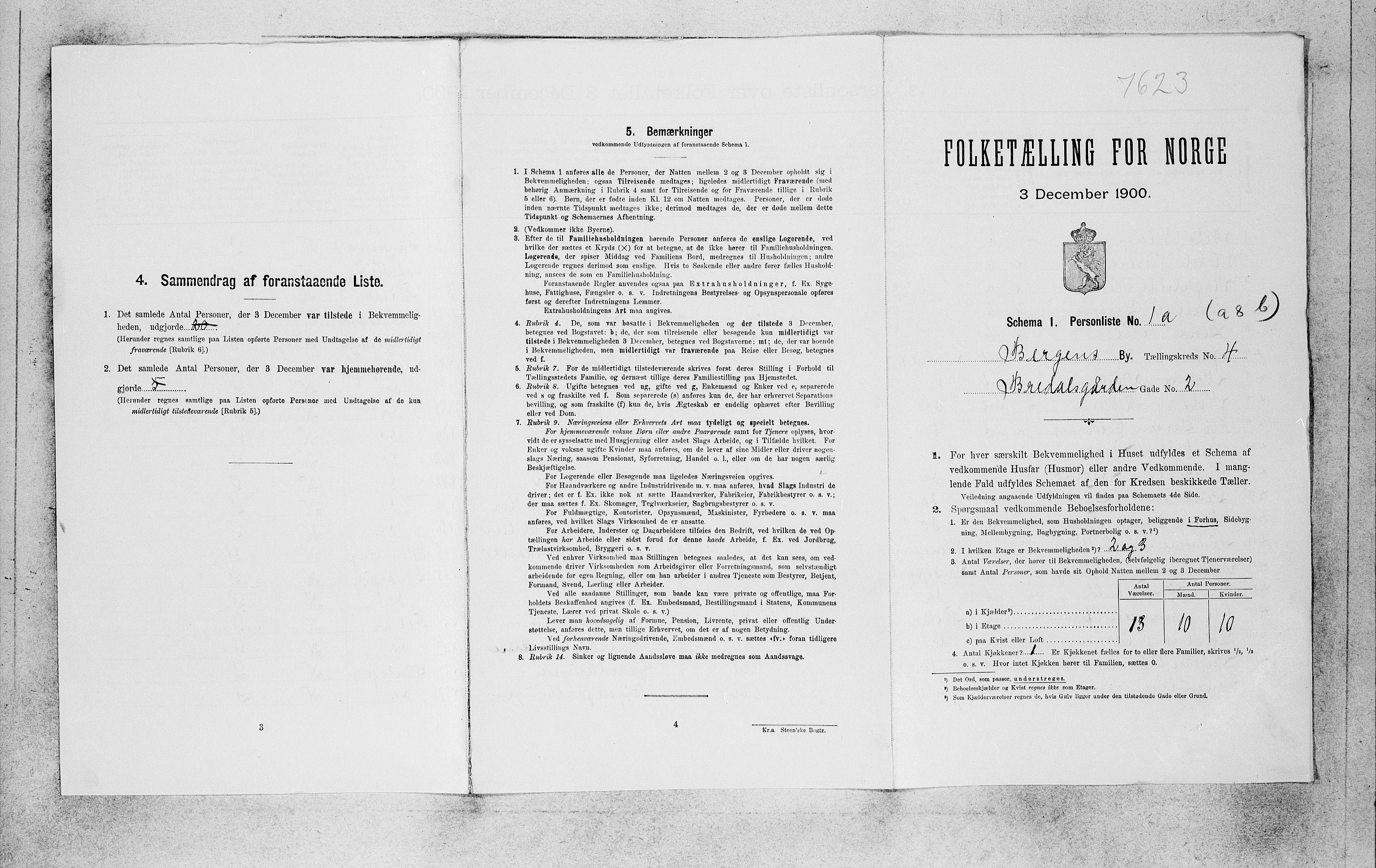 SAB, Folketelling 1900 for 1301 Bergen kjøpstad, 1900, s. 887