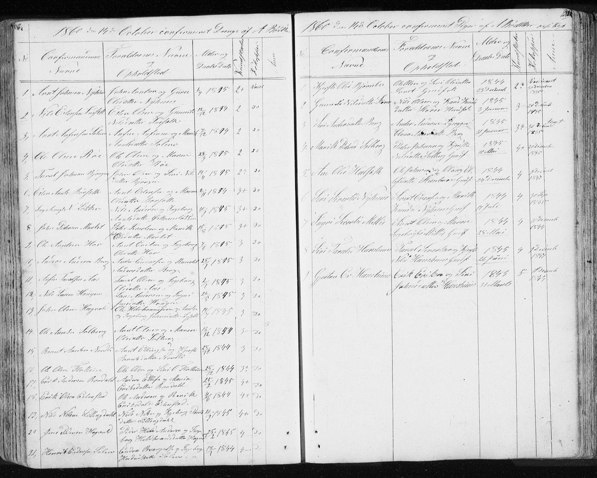 SAT, Ministerialprotokoller, klokkerbøker og fødselsregistre - Sør-Trøndelag, 689/L1043: Klokkerbok nr. 689C02, 1816-1892, s. 281