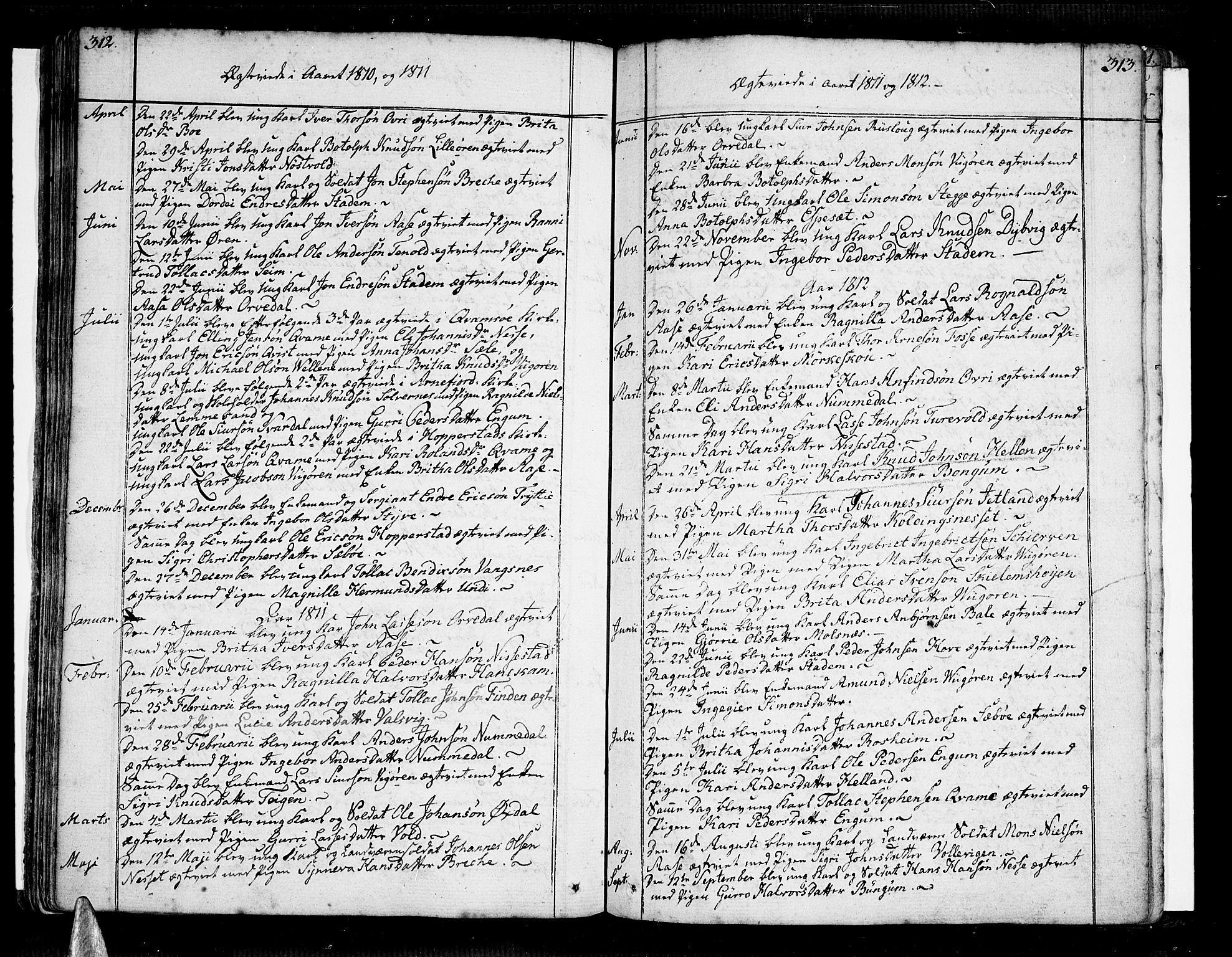 SAB, Vik Sokneprestembete, Ministerialbok nr. A 5, 1787-1820, s. 312-313