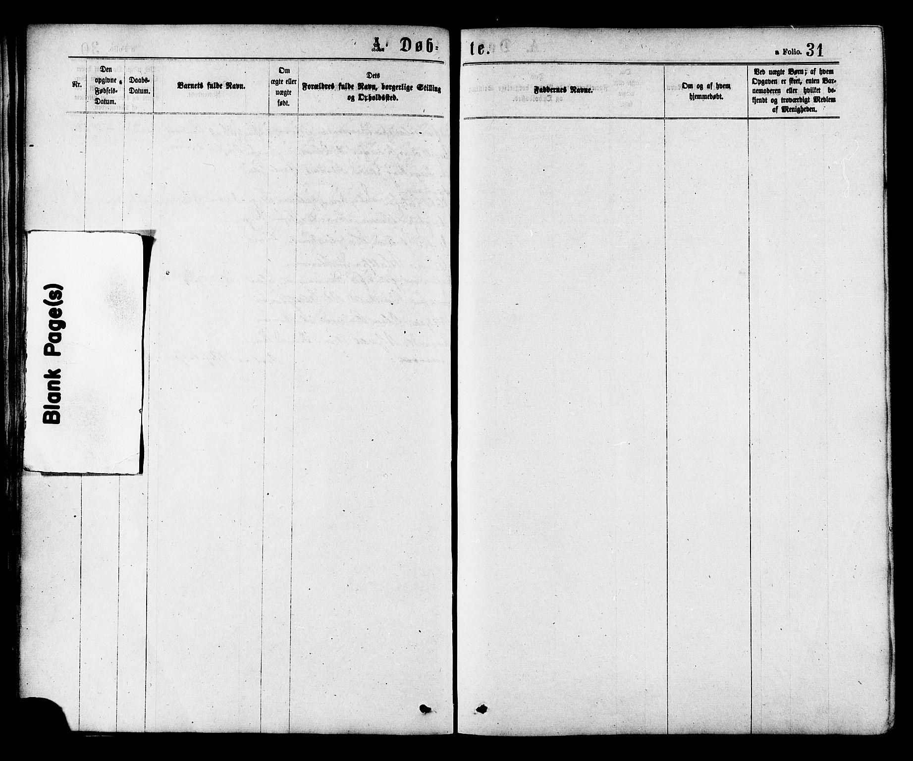 SAT, Ministerialprotokoller, klokkerbøker og fødselsregistre - Nord-Trøndelag, 758/L0516: Ministerialbok nr. 758A03 /1, 1869-1879, s. 31