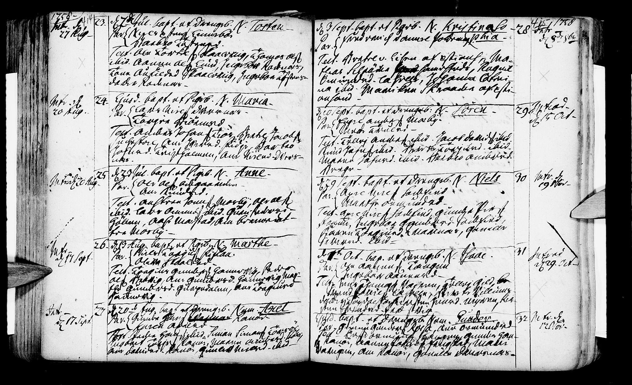 SAK, Oddernes sokneprestkontor, F/Fa/Faa/L0002: Ministerialbok nr. A 2, 1719-1764, s. 414-415
