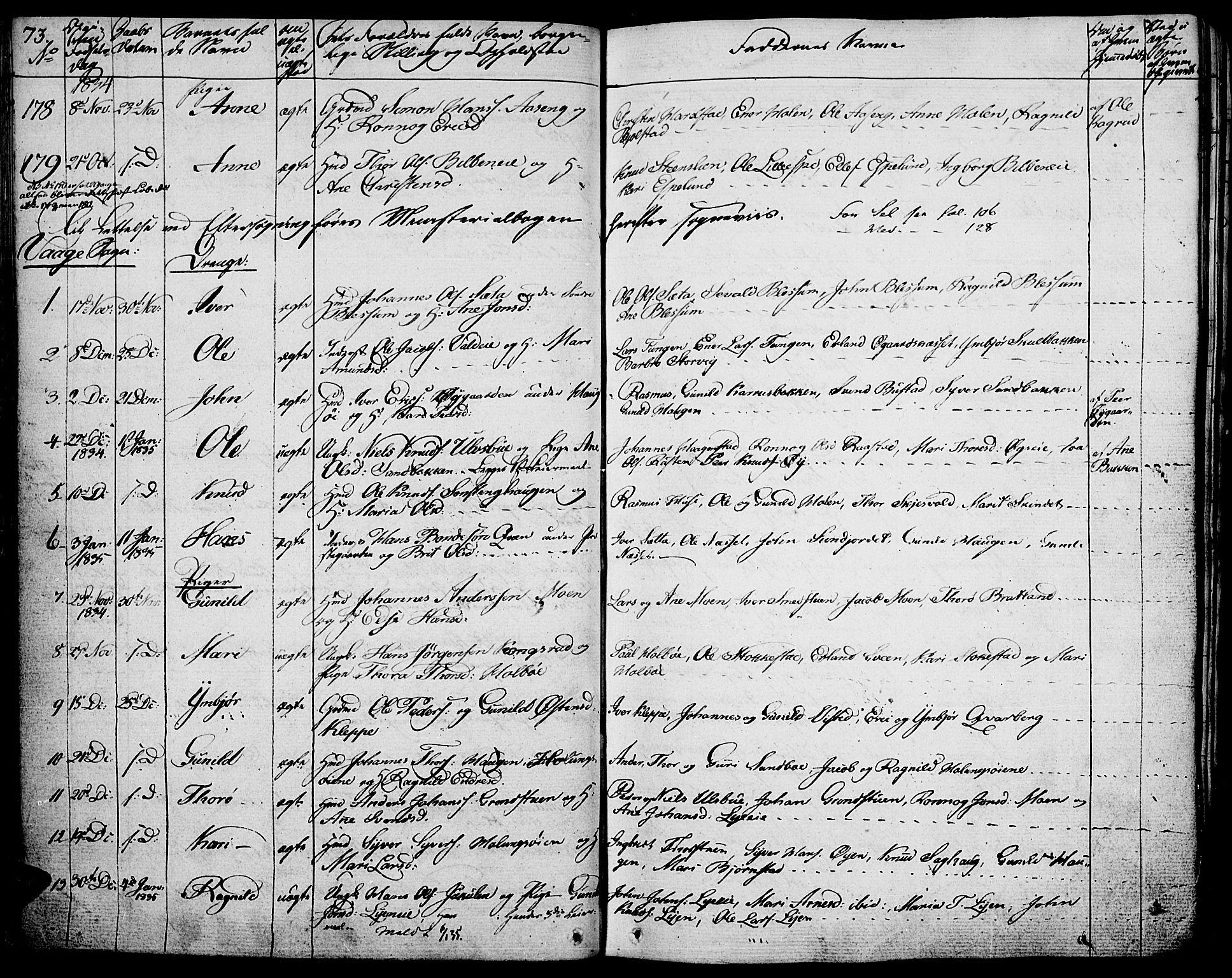SAH, Vågå prestekontor, Ministerialbok nr. 4 /1, 1827-1842, s. 73