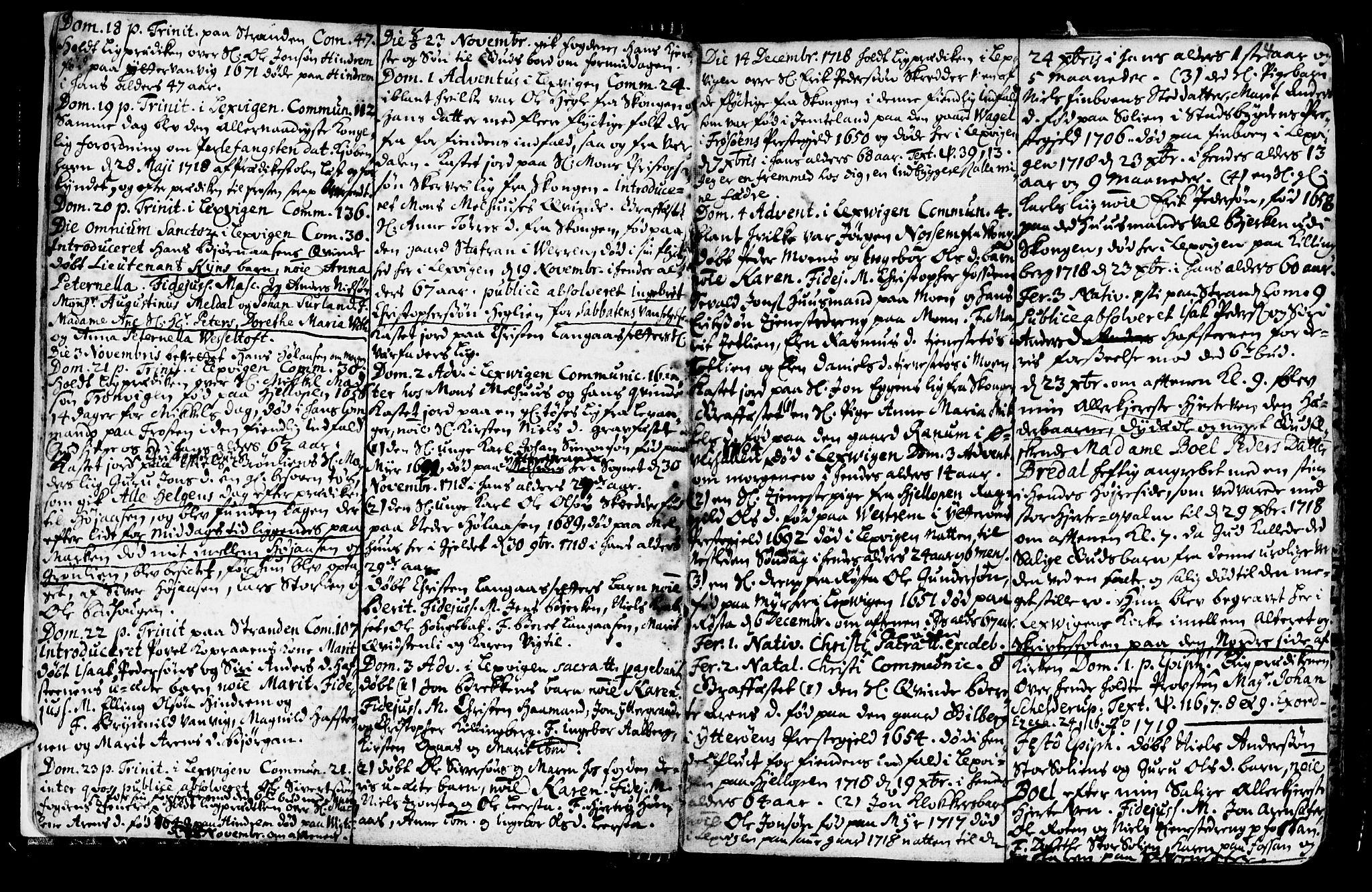 SAT, Ministerialprotokoller, klokkerbøker og fødselsregistre - Nord-Trøndelag, 701/L0001: Ministerialbok nr. 701A01, 1717-1731, s. 4