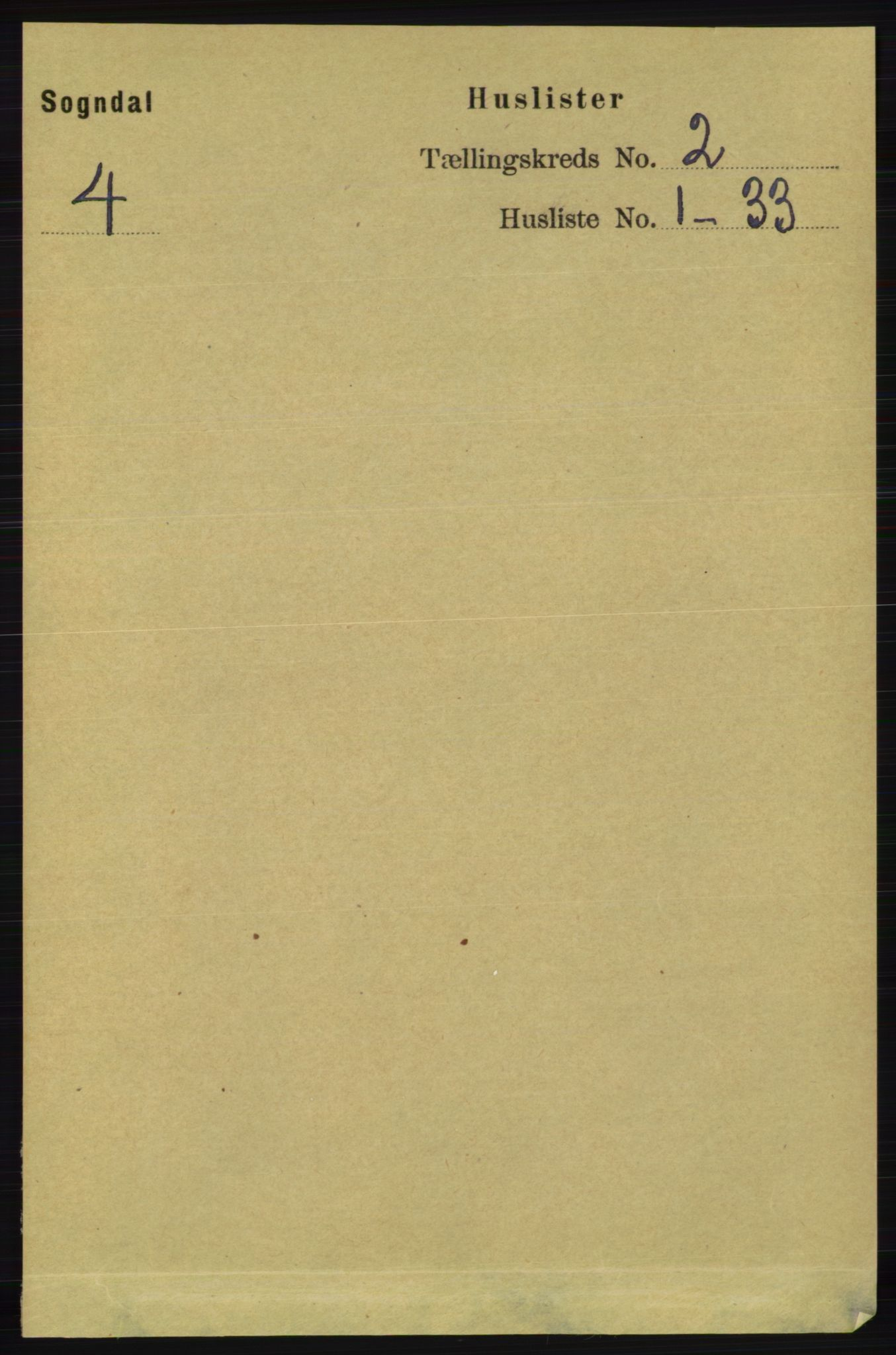 RA, Folketelling 1891 for 1111 Sokndal herred, 1891, s. 424