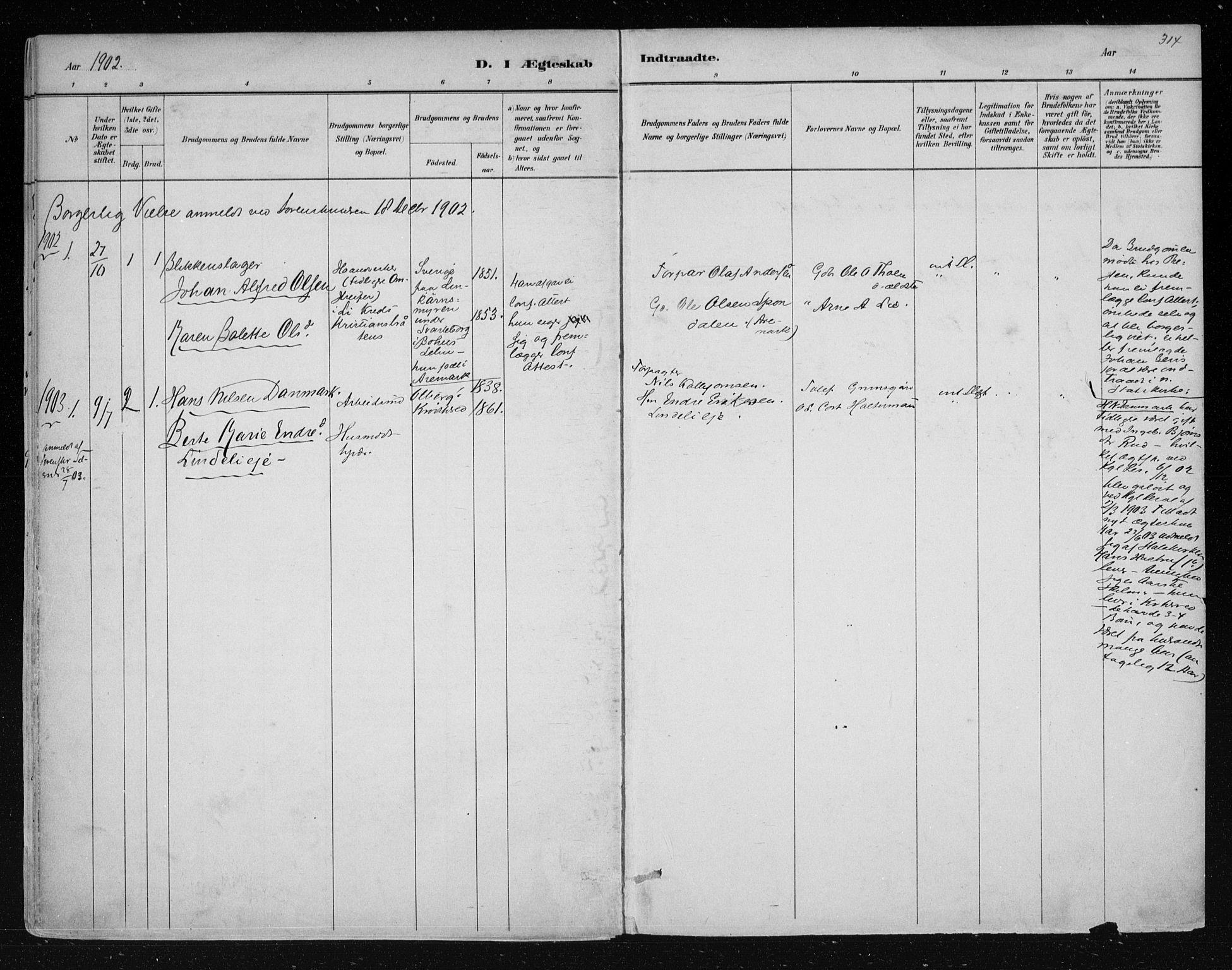 SAKO, Nes kirkebøker, F/Fa/L0011: Ministerialbok nr. 11, 1881-1912, s. 314