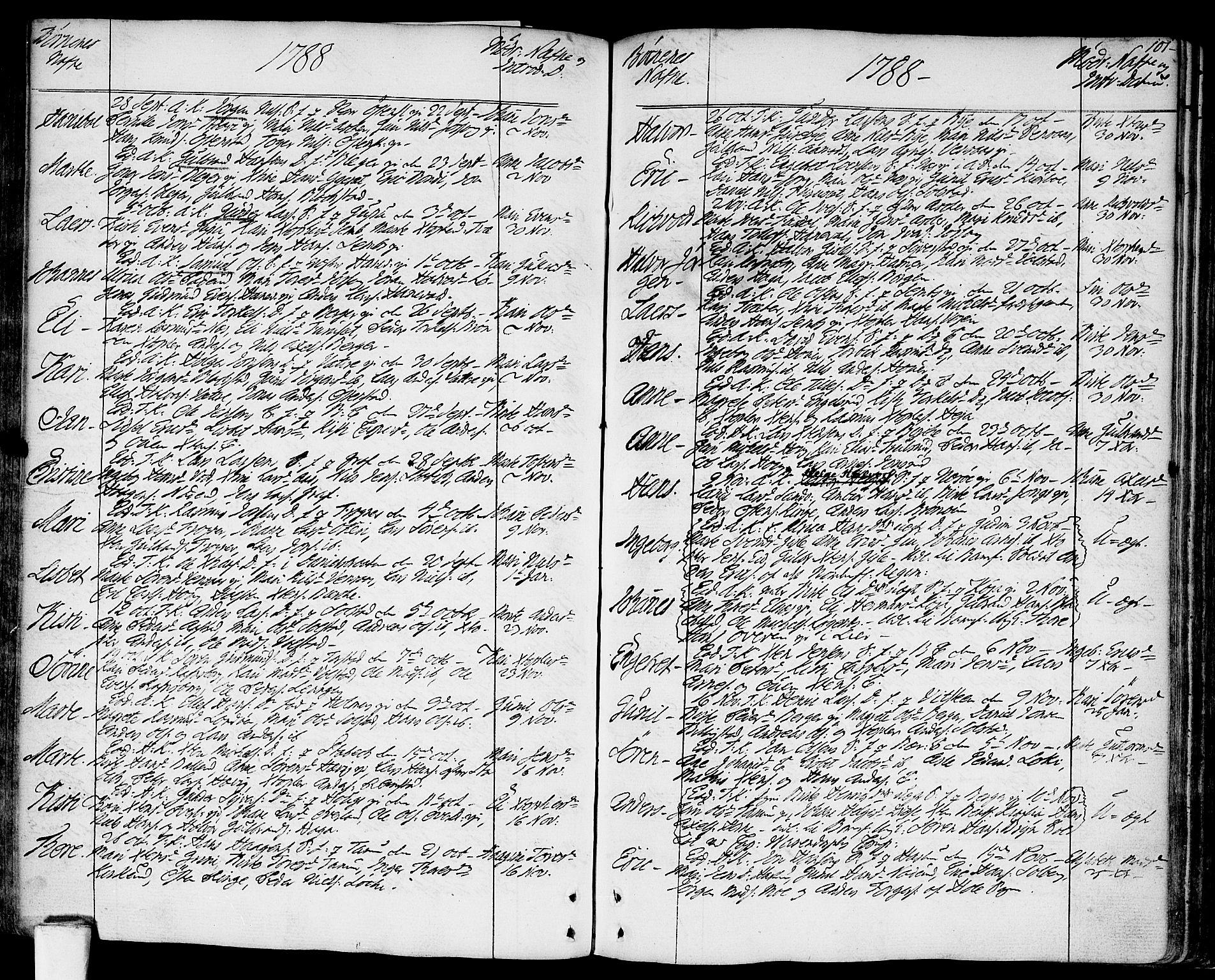 SAO, Asker prestekontor Kirkebøker, F/Fa/L0003: Ministerialbok nr. I 3, 1767-1807, s. 101