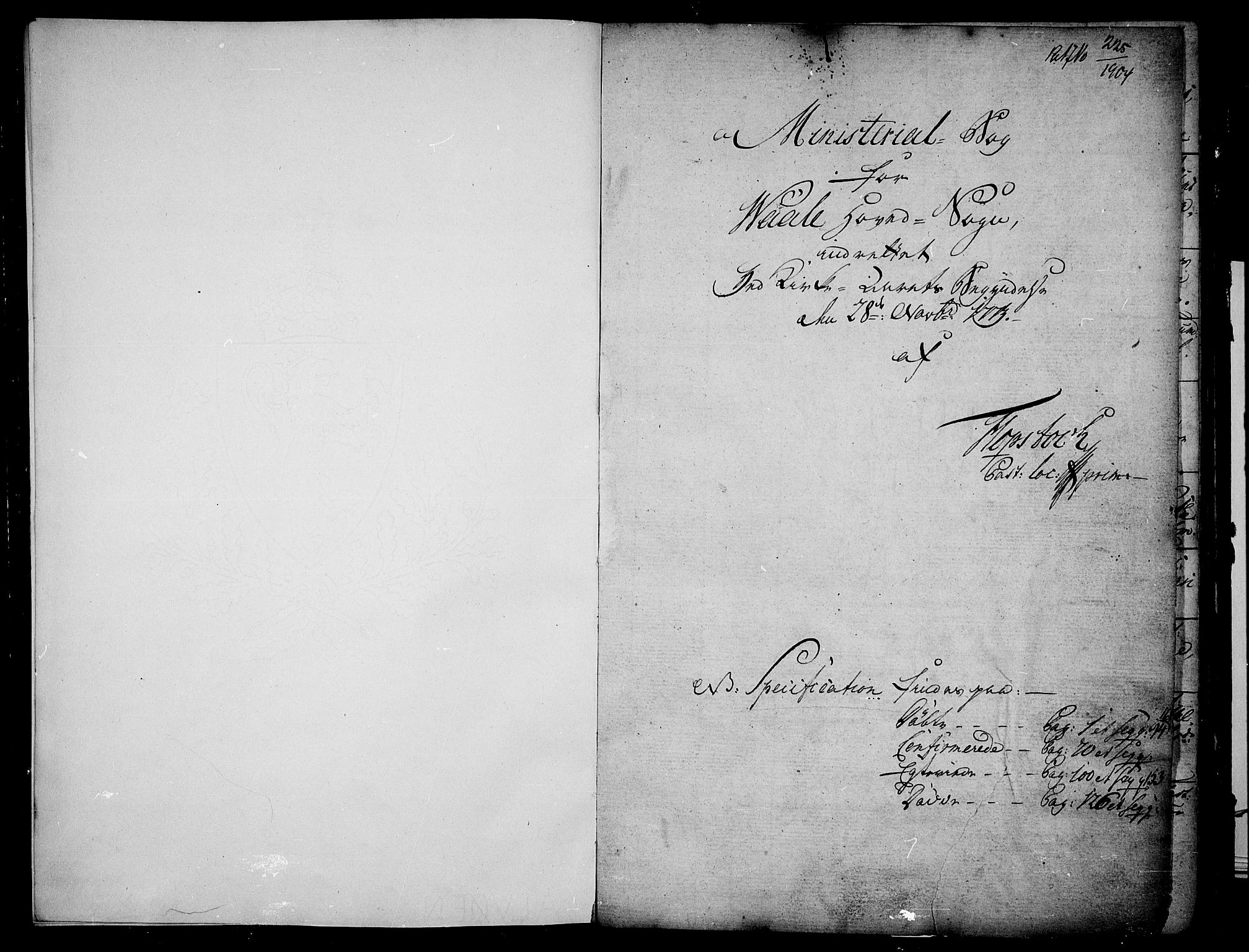 SAKO, Våle kirkebøker, F/Fa/L0005: Ministerialbok nr. I 5, 1773-1808