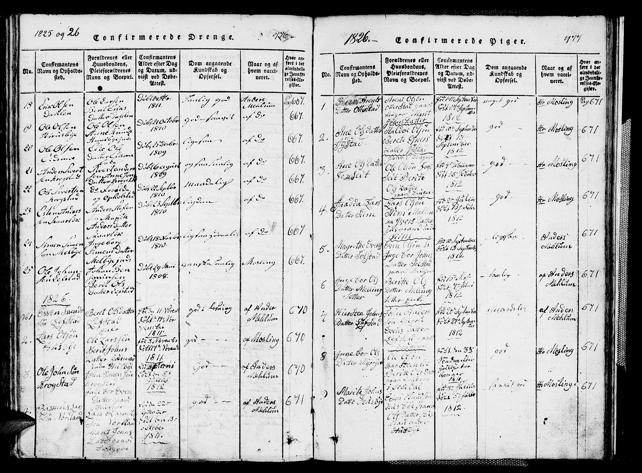 SAT, Ministerialprotokoller, klokkerbøker og fødselsregistre - Sør-Trøndelag, 667/L0796: Klokkerbok nr. 667C01, 1817-1836, s. 476-477