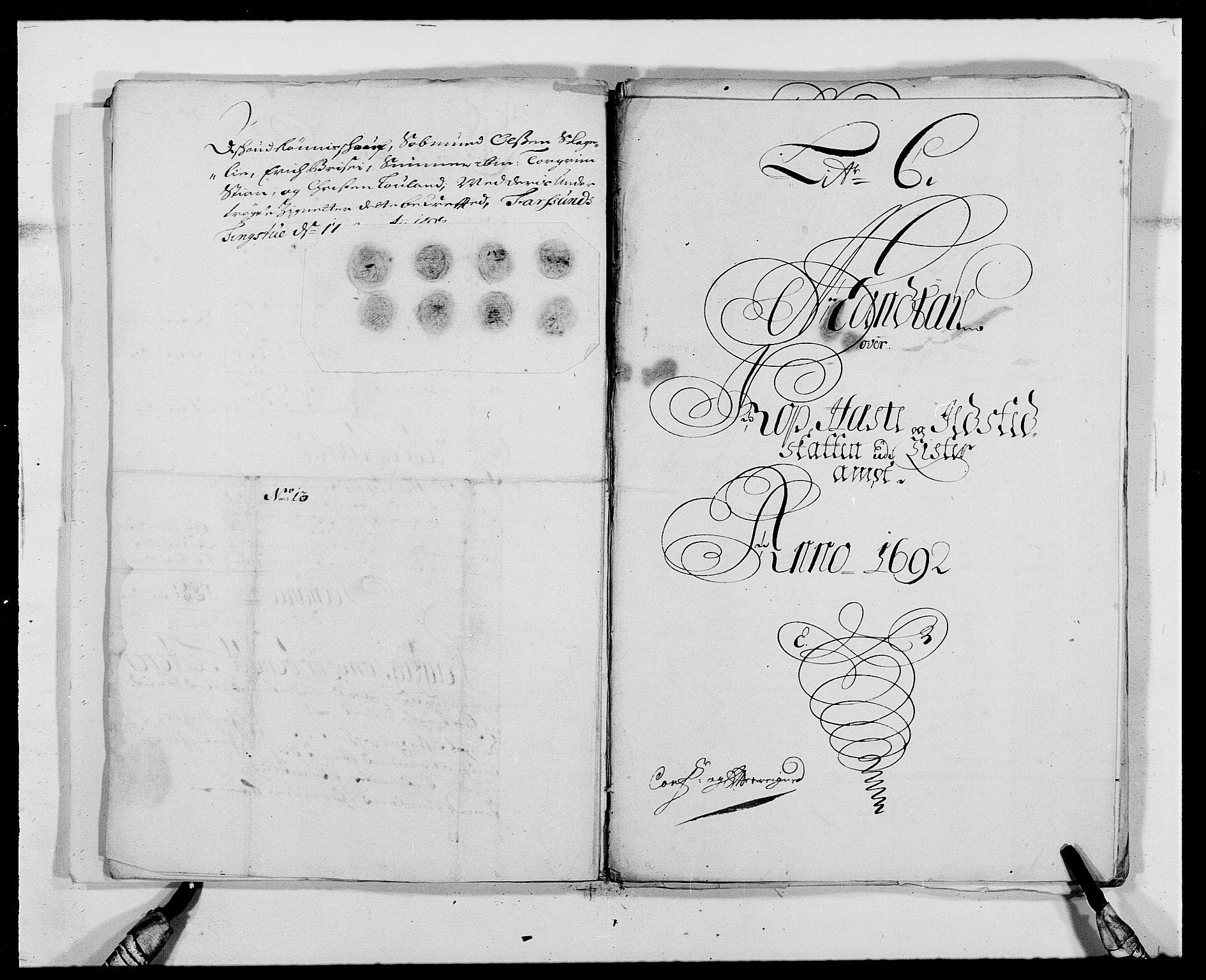 RA, Rentekammeret inntil 1814, Reviderte regnskaper, Fogderegnskap, R41/L2536: Fogderegnskap Lista, 1690-1693, s. 208
