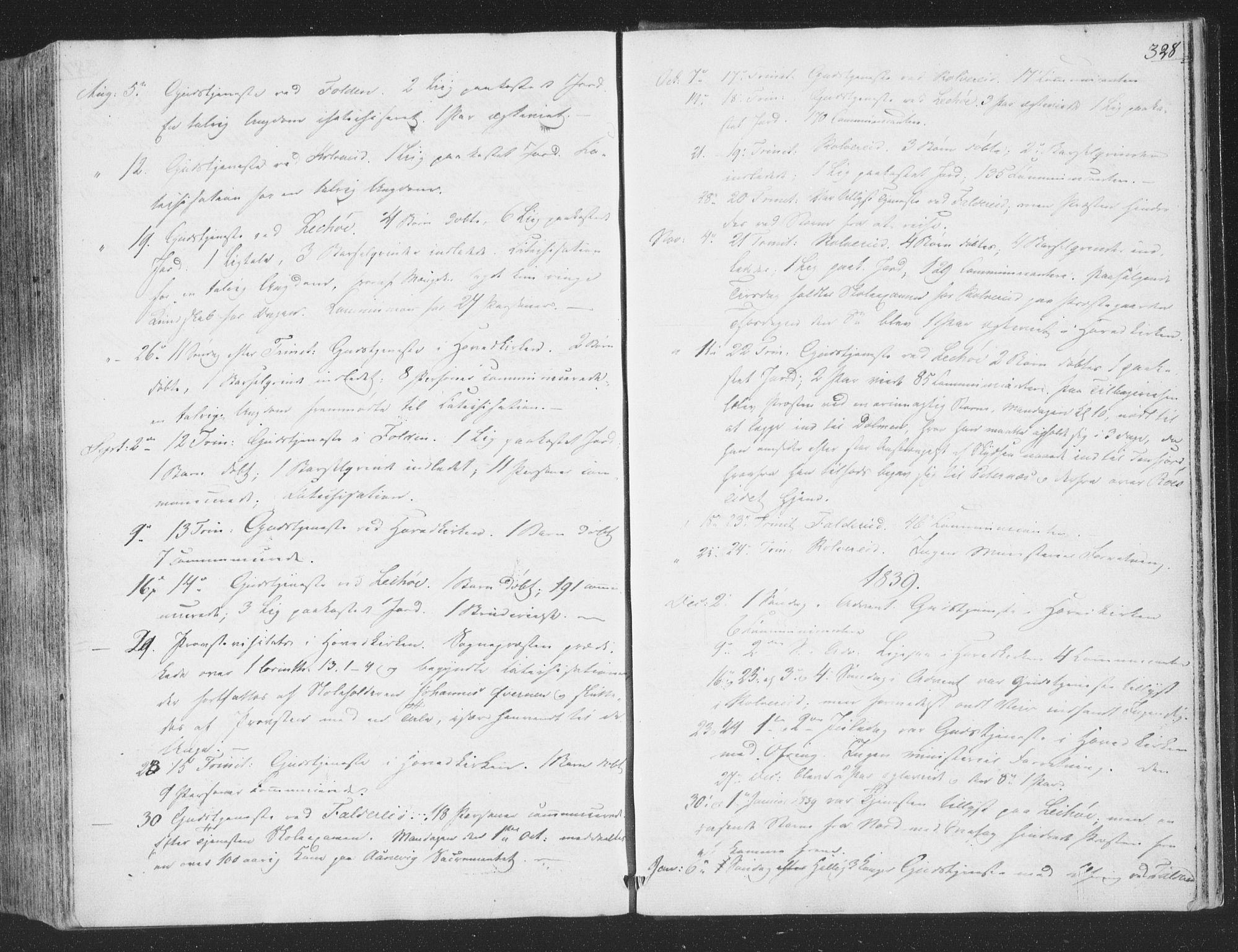 SAT, Ministerialprotokoller, klokkerbøker og fødselsregistre - Nord-Trøndelag, 780/L0639: Ministerialbok nr. 780A04, 1830-1844, s. 328