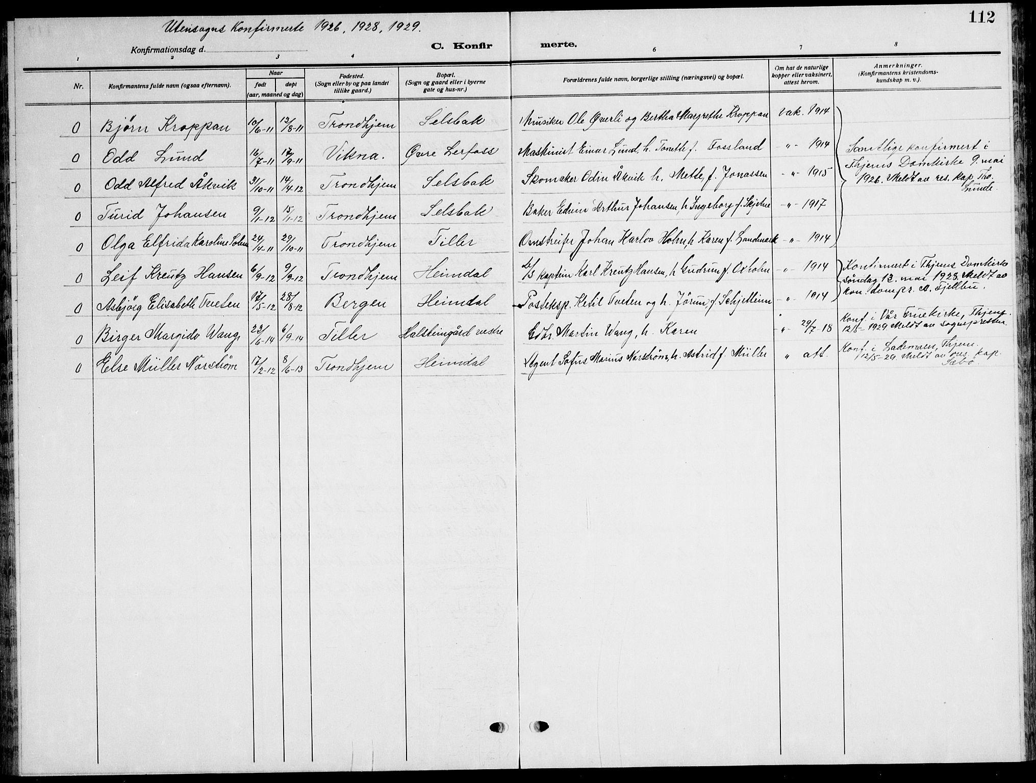 SAT, Ministerialprotokoller, klokkerbøker og fødselsregistre - Sør-Trøndelag, 621/L0462: Klokkerbok nr. 621C05, 1915-1945, s. 112
