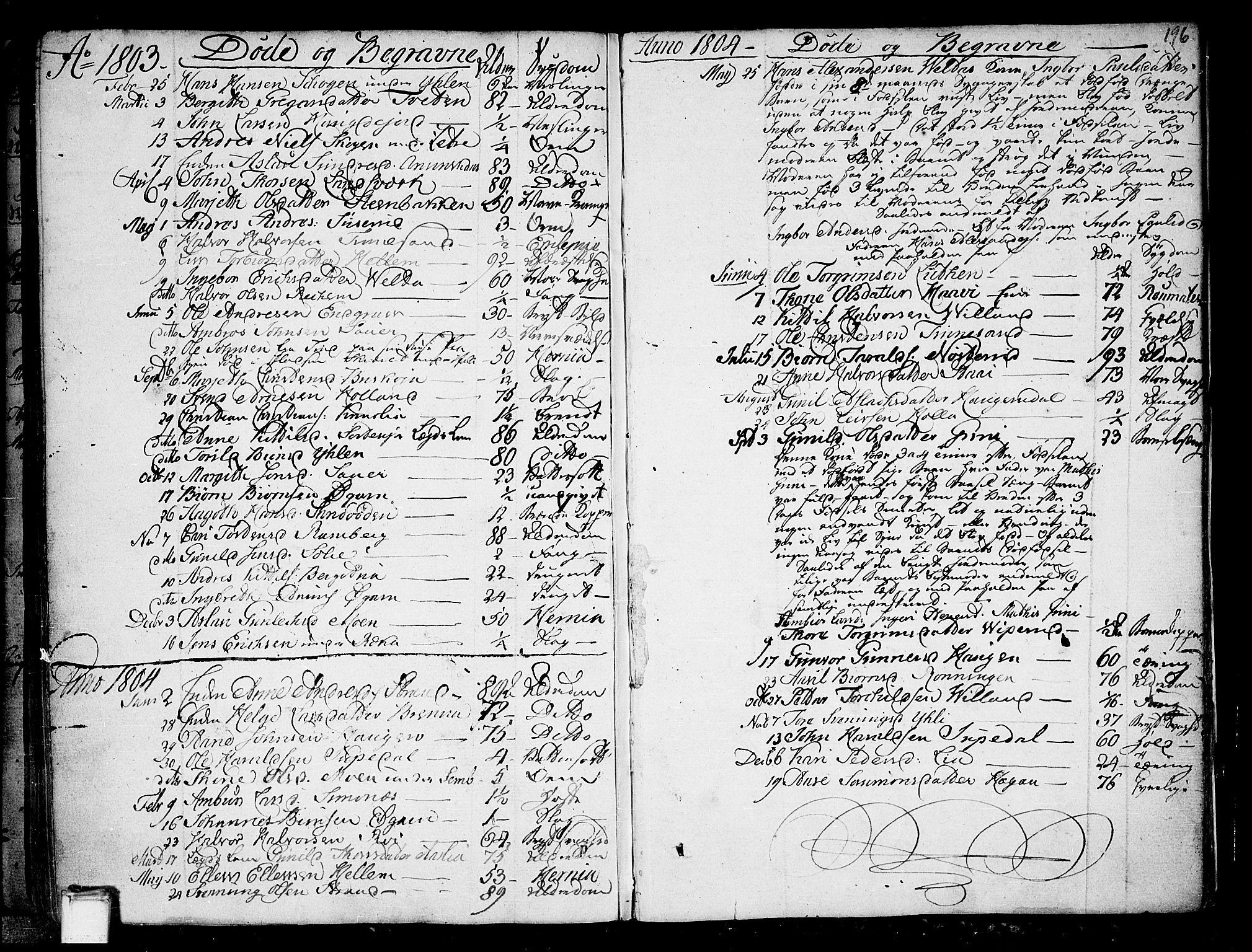 SAKO, Heddal kirkebøker, F/Fa/L0004: Ministerialbok nr. I 4, 1784-1814, s. 196