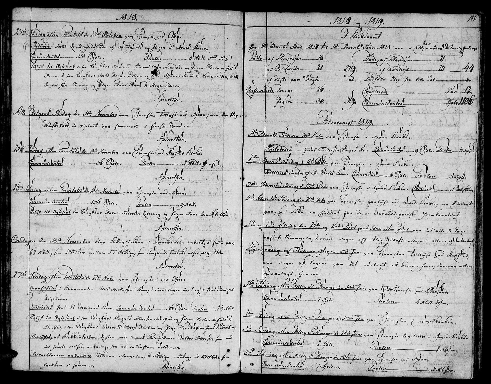 SAT, Ministerialprotokoller, klokkerbøker og fødselsregistre - Sør-Trøndelag, 657/L0701: Ministerialbok nr. 657A02, 1802-1831, s. 151