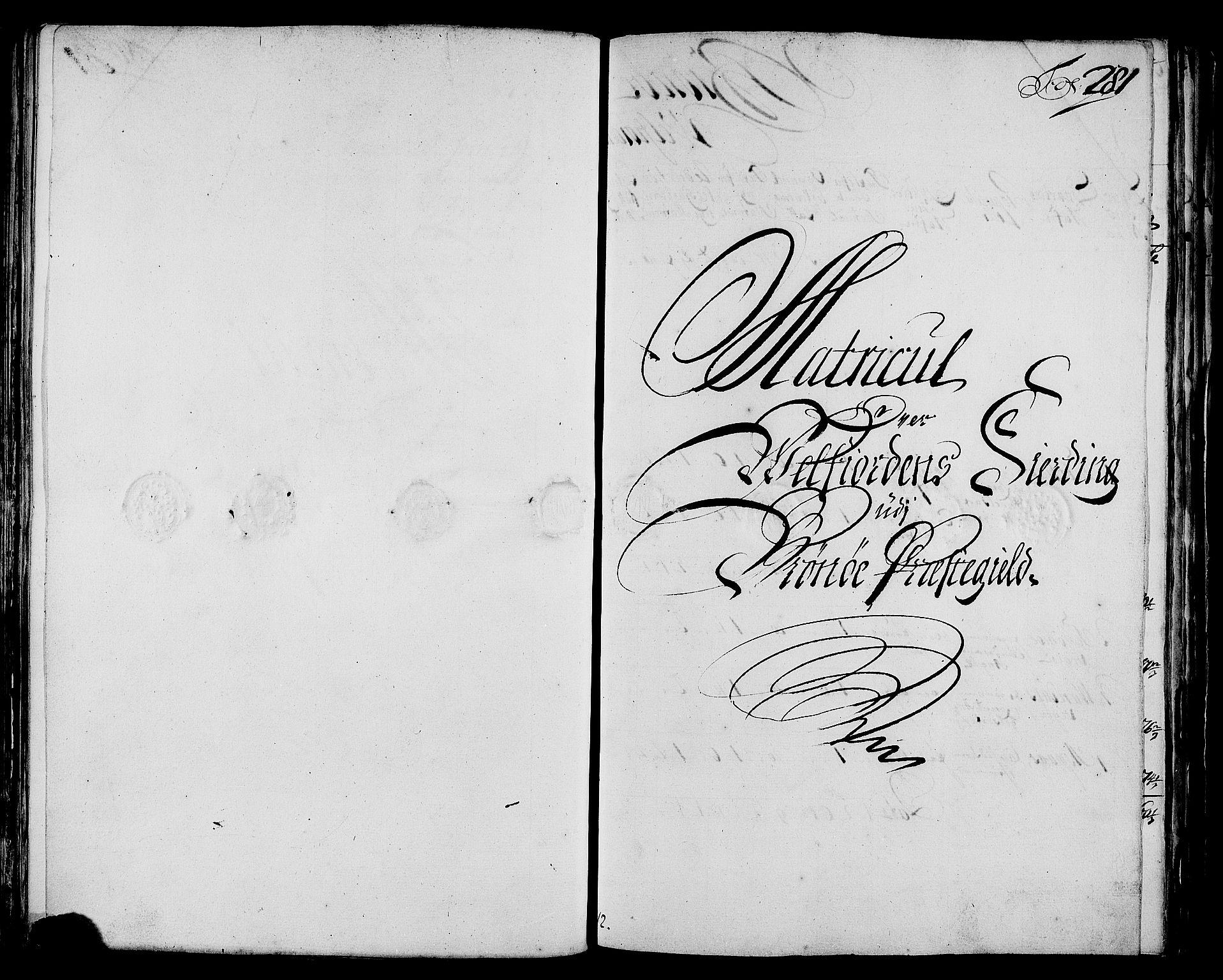 RA, Rentekammeret inntil 1814, Realistisk ordnet avdeling, N/Nb/Nbf/L0171: Helgeland matrikkelprotokoll, 1723, s. 280b-281a