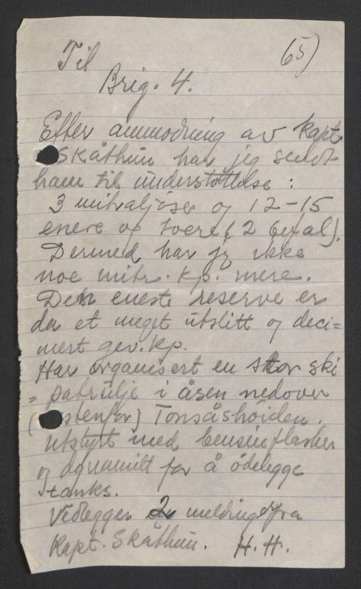 RA, Forsvaret, Forsvarets krigshistoriske avdeling, Y/Yb/L0104: II-C-11-430  -  4. Divisjon., 1940, s. 193