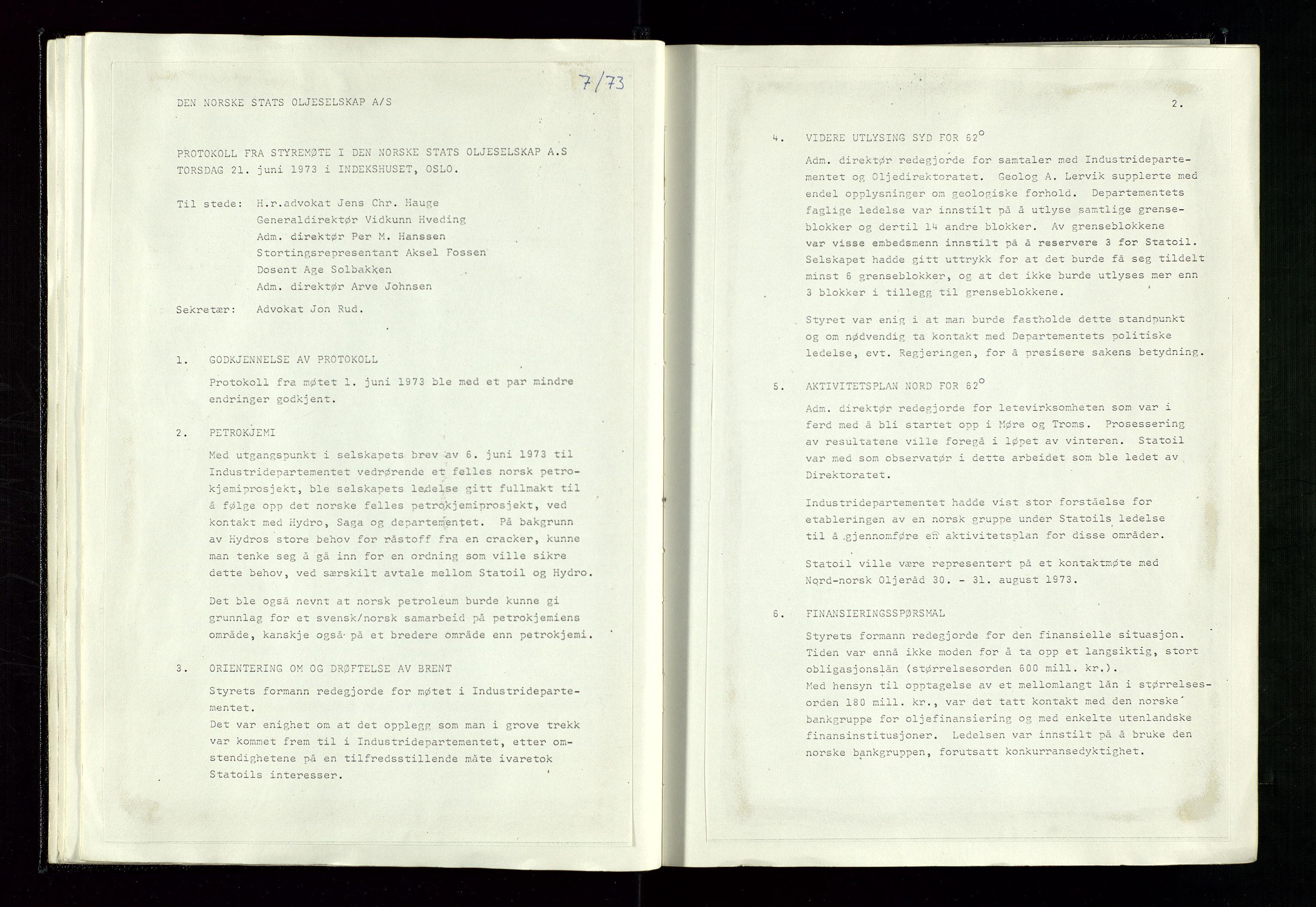 SAST, Pa 1339 - Statoil ASA, A/Ab/Aba/L0001: Styremøteprotokoller, 05.10.1972 til 14.12.1978, 1972-1978, s. 29