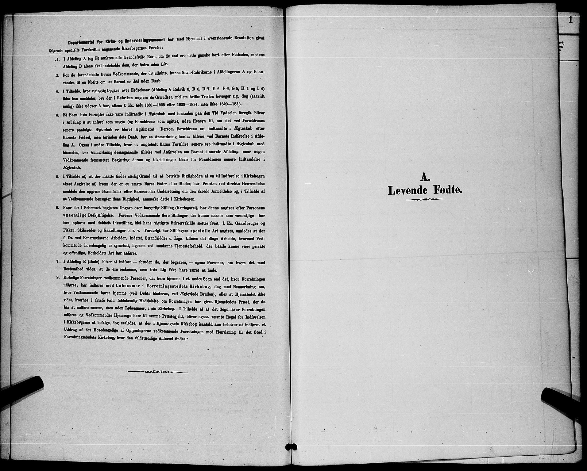 SAKO, Sandefjord kirkebøker, G/Ga/L0001: Klokkerbok nr. 1, 1885-1903