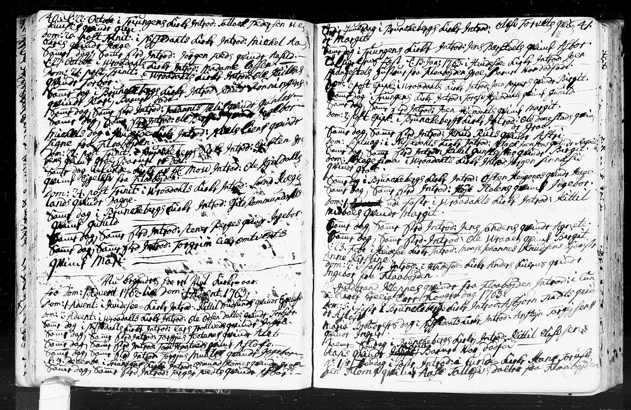 SAKO, Kviteseid kirkebøker, F/Fa/L0001: Ministerialbok nr. I 1, 1754-1773, s. 40-41