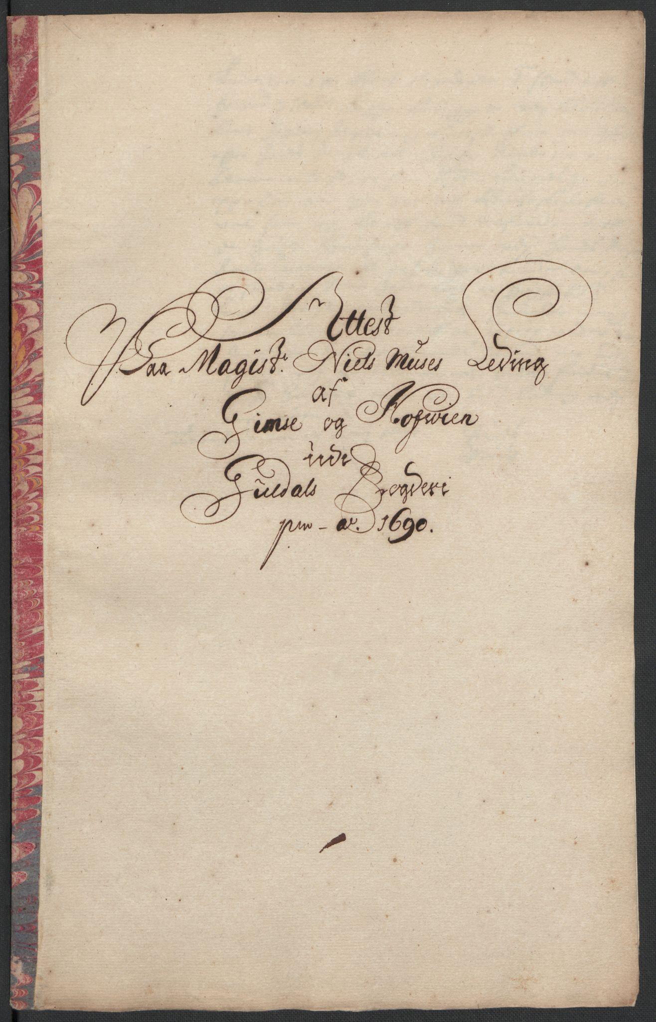 RA, Rentekammeret inntil 1814, Reviderte regnskaper, Fogderegnskap, R59/L3940: Fogderegnskap Gauldal, 1689-1690, s. 397