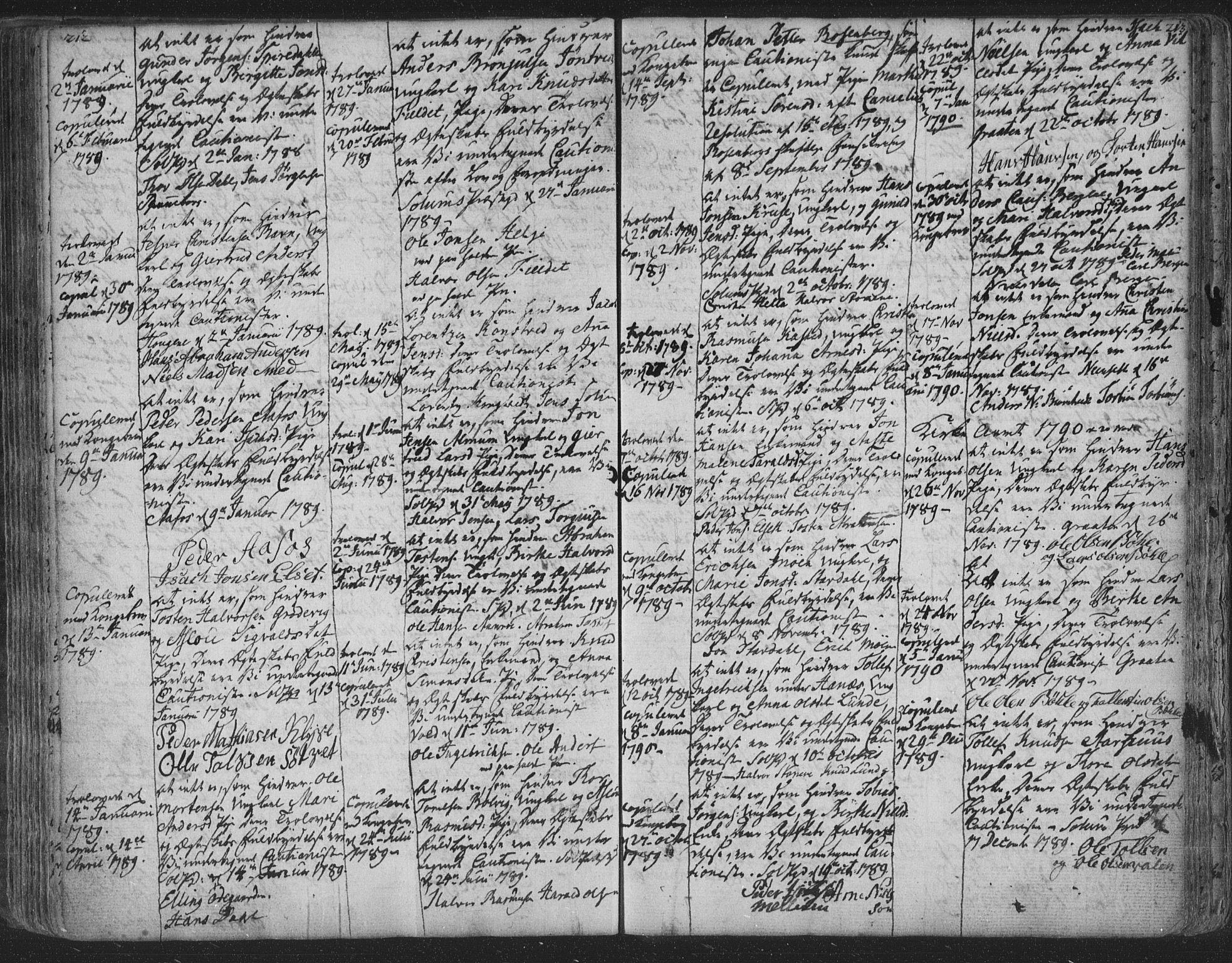 SAKO, Solum kirkebøker, F/Fa/L0003: Ministerialbok nr. I 3, 1761-1814, s. 212-213