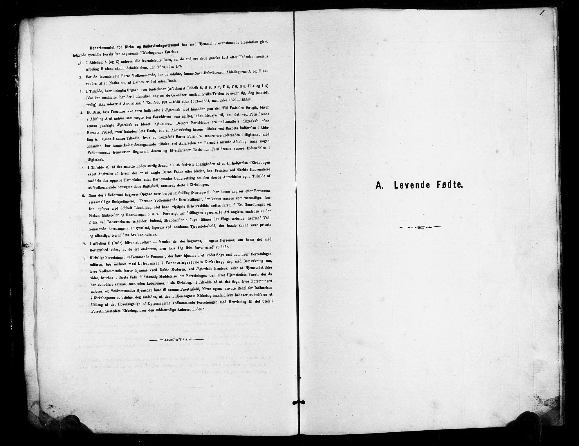 SAK, Herefoss sokneprestkontor, F/Fb/Fbb/L0002: Klokkerbok nr. B 2, 1879-1894, s. 1