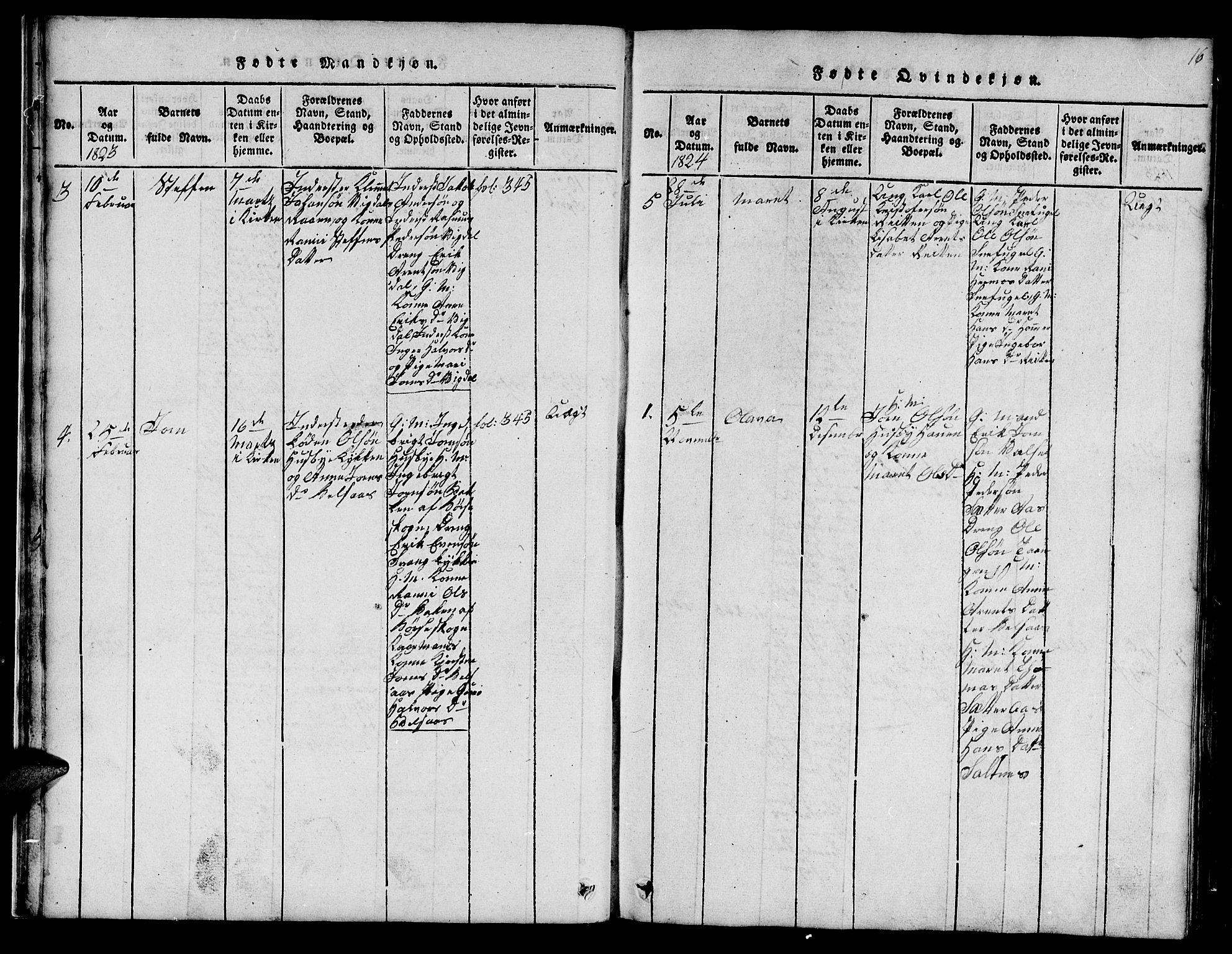 SAT, Ministerialprotokoller, klokkerbøker og fødselsregistre - Sør-Trøndelag, 666/L0788: Klokkerbok nr. 666C01, 1816-1847, s. 16