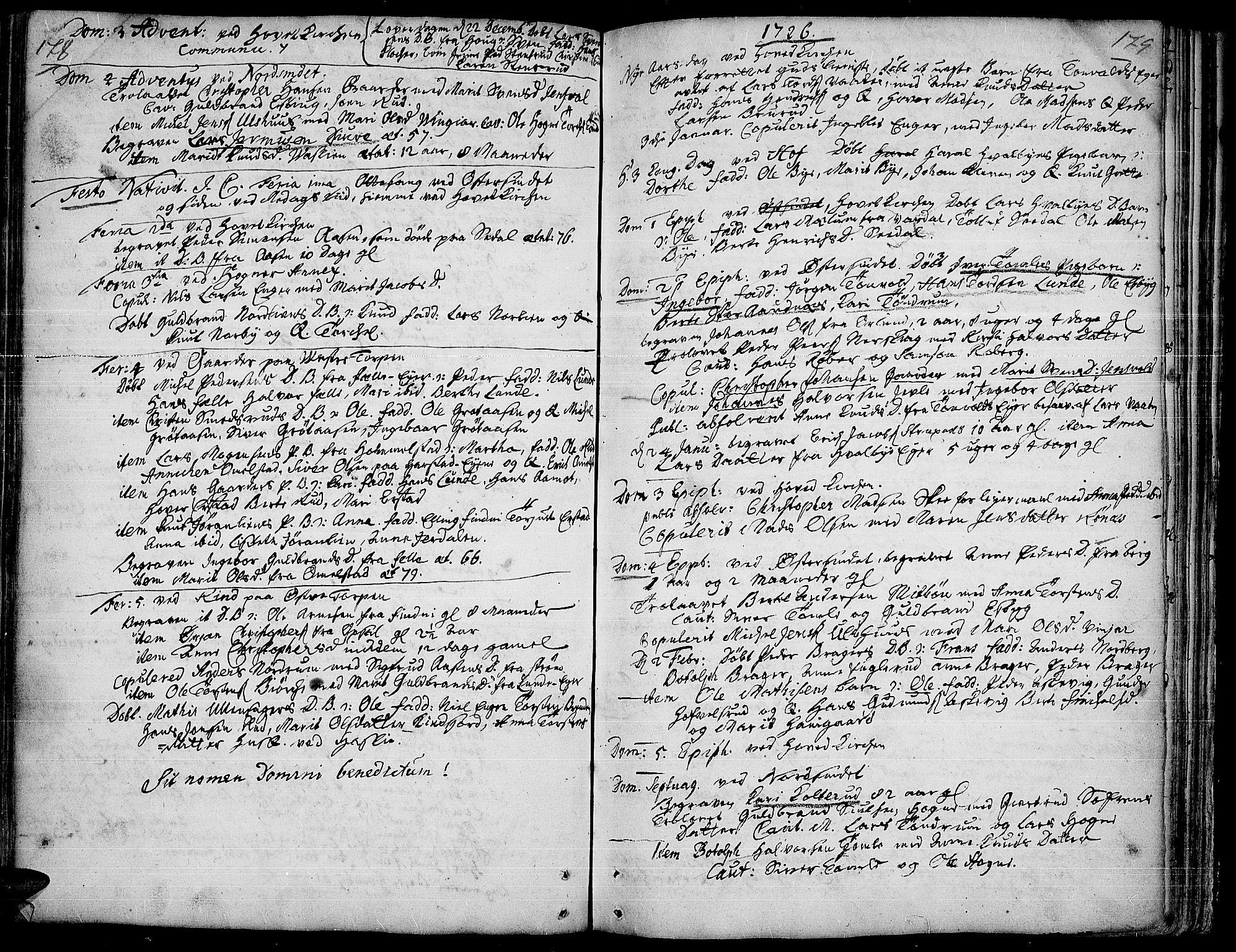 SAH, Land prestekontor, Ministerialbok nr. 1, 1708-1732, s. 178-179