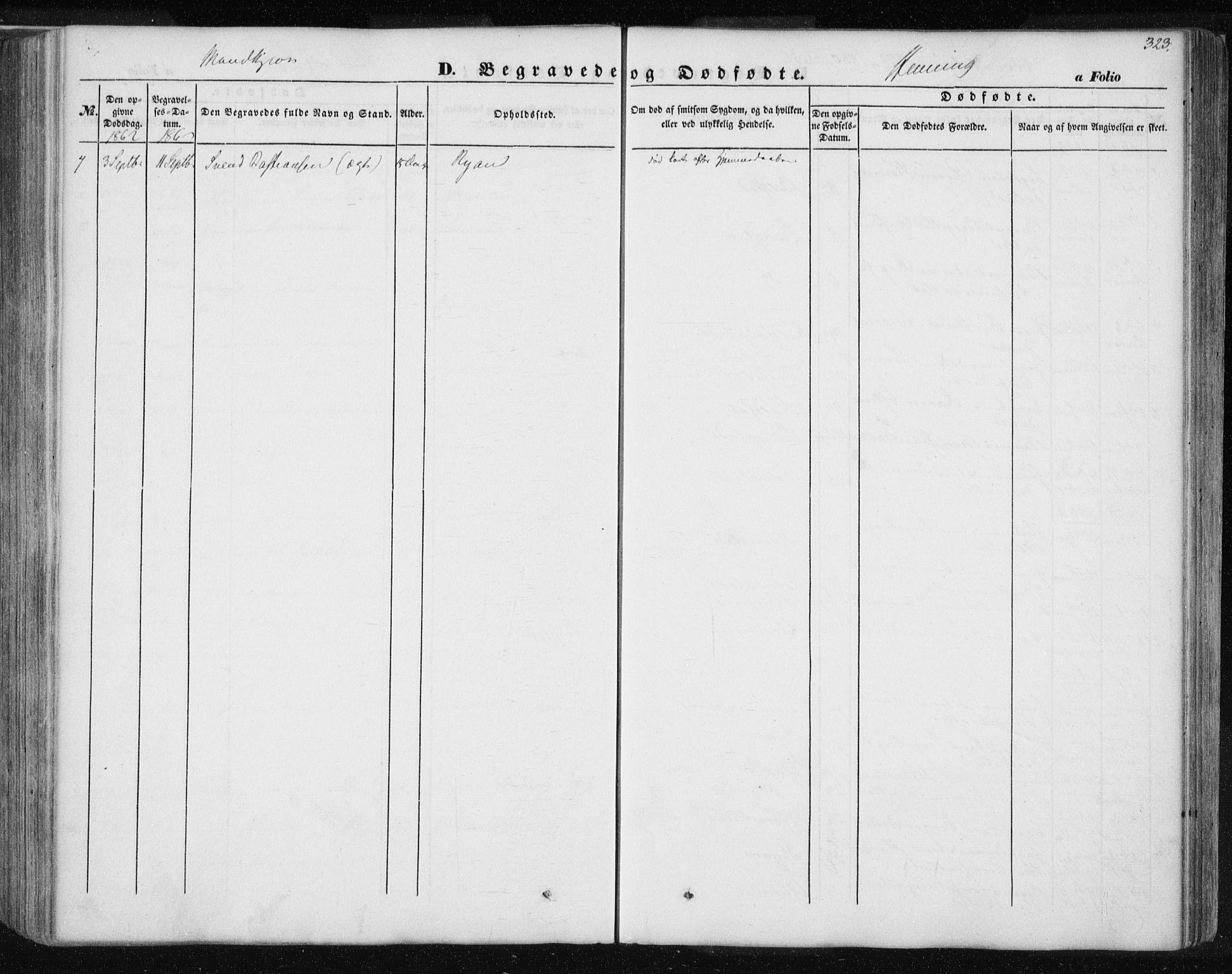 SAT, Ministerialprotokoller, klokkerbøker og fødselsregistre - Nord-Trøndelag, 735/L0342: Ministerialbok nr. 735A07 /3, 1849-1862, s. 323