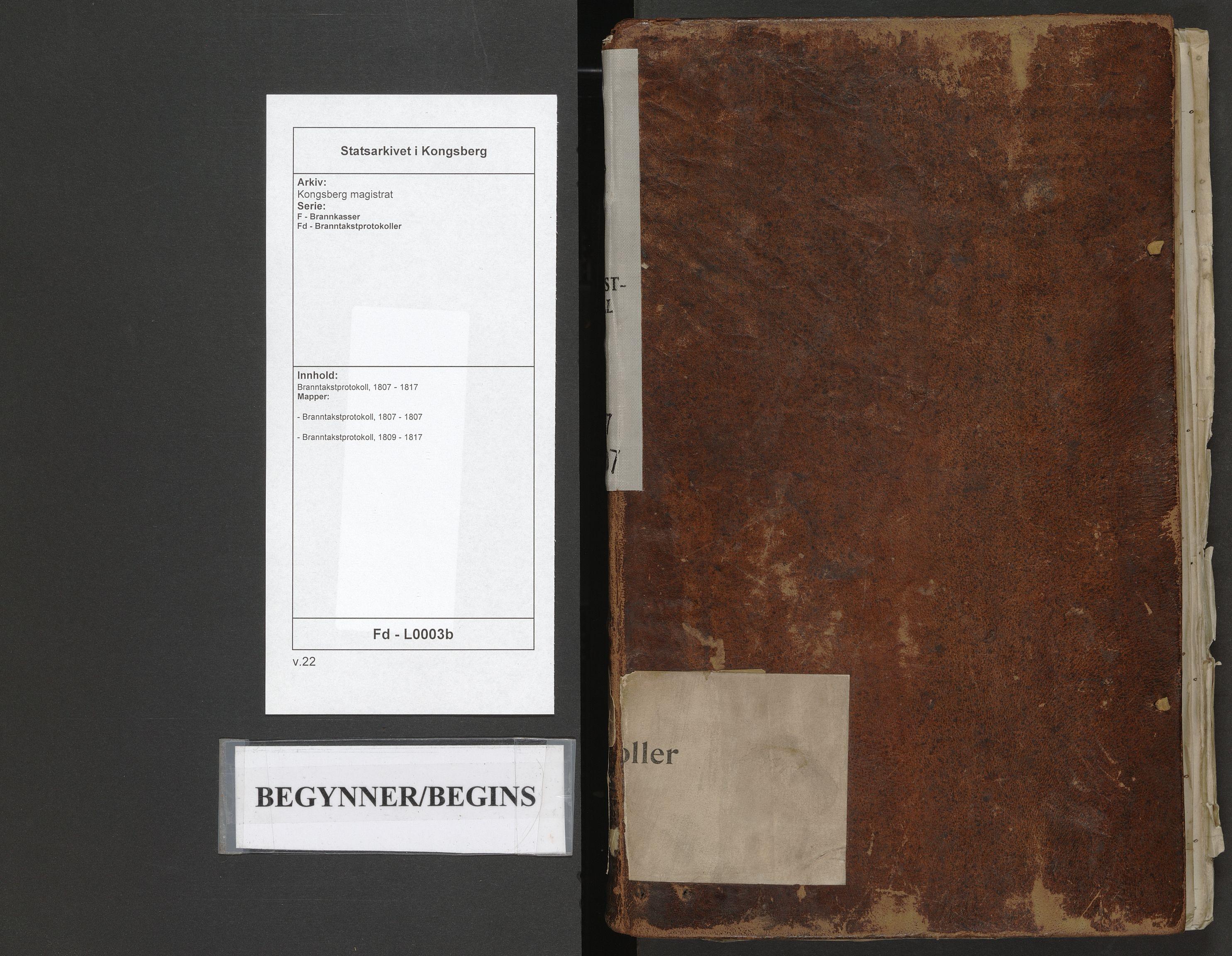 SAKO, Kongsberg magistrat, F/Fd/L0003b: Branntakstprotokoll, 1807