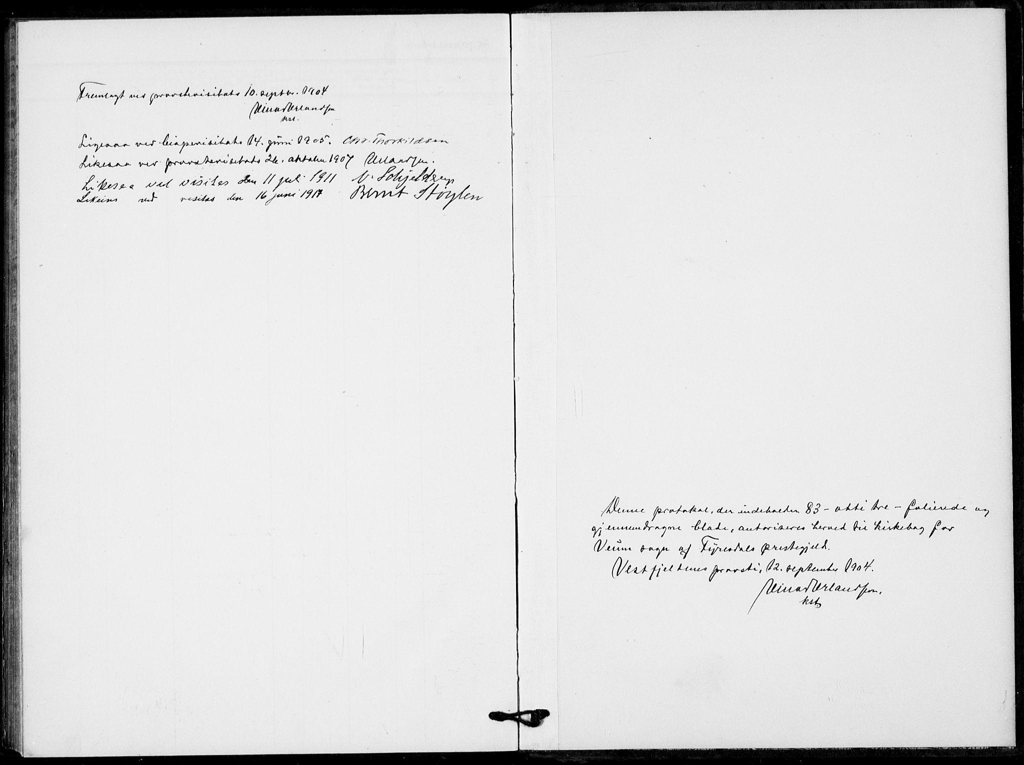 SAKO, Fyresdal kirkebøker, F/Fb/L0004: Ministerialbok nr. II 4, 1903-1920