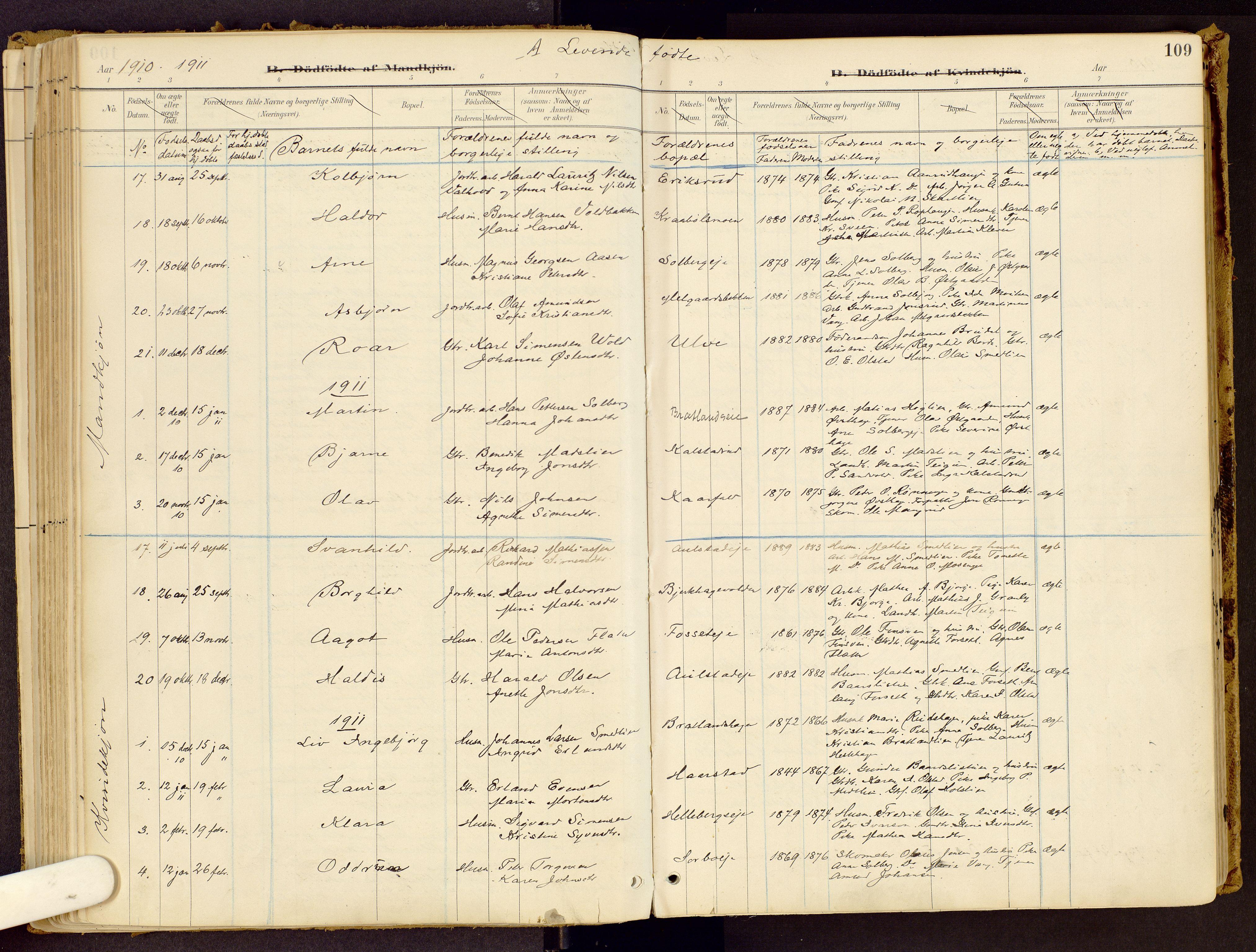 SAH, Vestre Gausdal prestekontor, Ministerialbok nr. 1, 1887-1914, s. 109