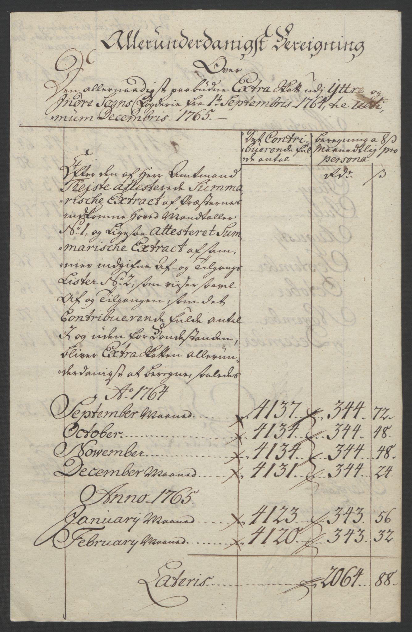 RA, Rentekammeret inntil 1814, Realistisk ordnet avdeling, Ol/L0018: [Gg 10]: Ekstraskatten, 23.09.1762. Sogn, 1762-1772, s. 119