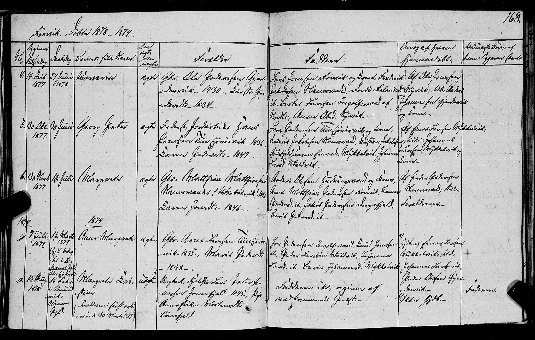 SAT, Ministerialprotokoller, klokkerbøker og fødselsregistre - Nord-Trøndelag, 762/L0538: Ministerialbok nr. 762A02 /1, 1833-1879, s. 168