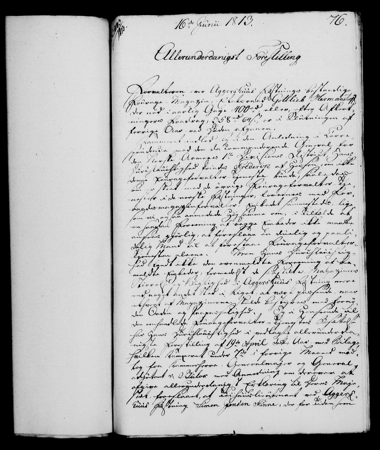 RA, Rentekammeret, Kammerkanselliet, G/Gf/Gfa/L0095: Norsk relasjons- og resolusjonsprotokoll (merket RK 52.95), 1813-1814, s. 315