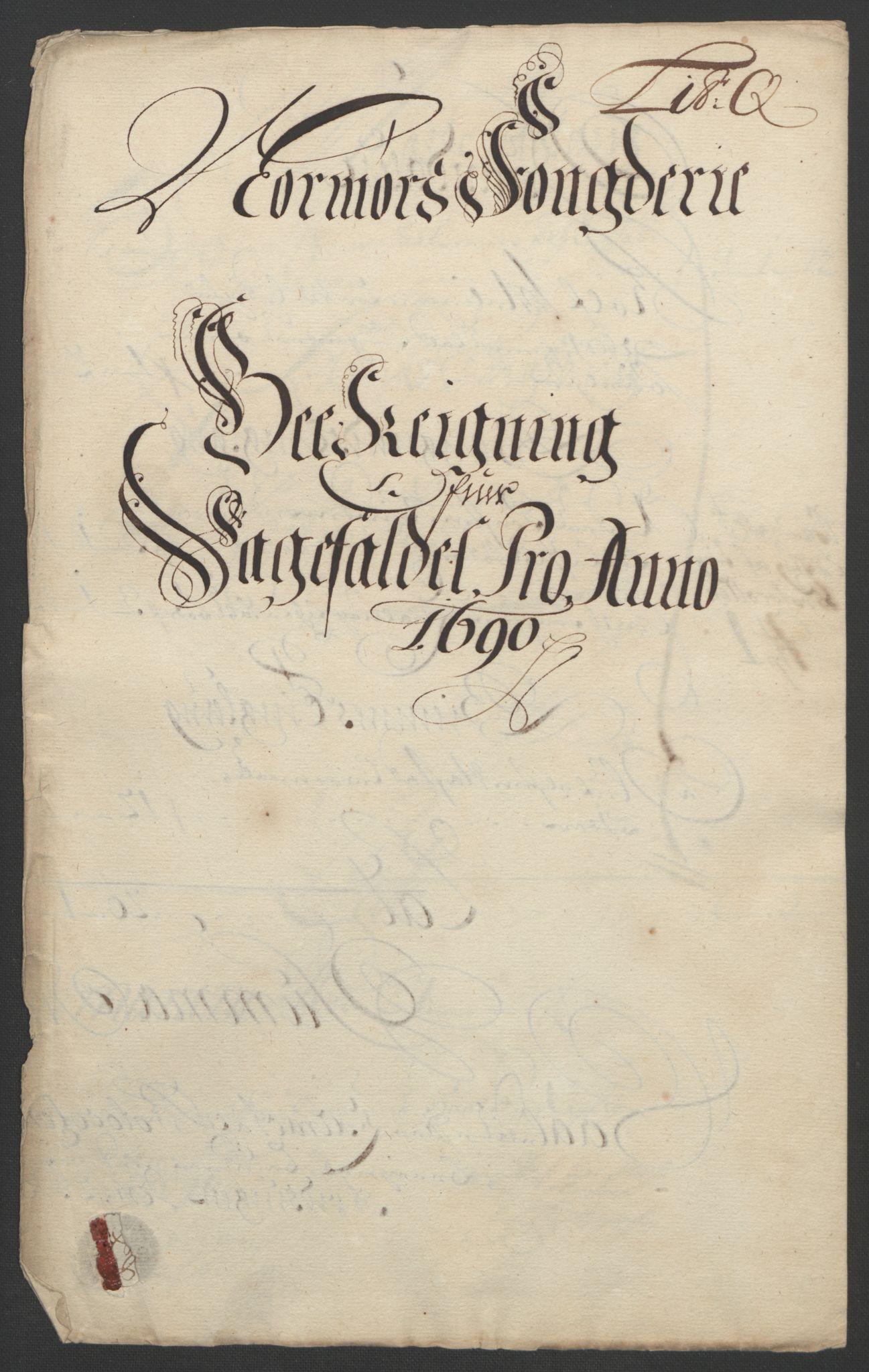 RA, Rentekammeret inntil 1814, Reviderte regnskaper, Fogderegnskap, R56/L3734: Fogderegnskap Nordmøre, 1690-1691, s. 202