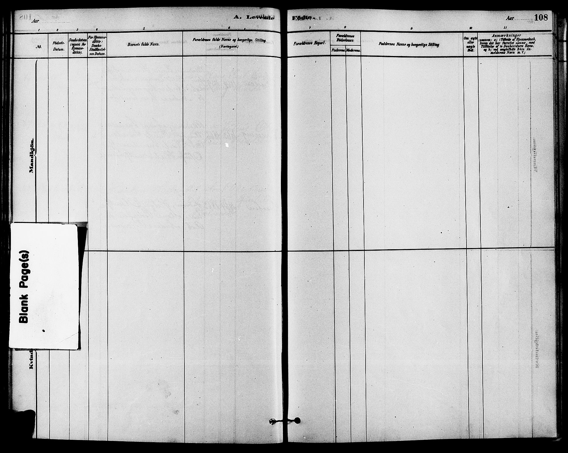 SAKO, Solum kirkebøker, F/Fa/L0009: Ministerialbok nr. I 9, 1877-1887, s. 108