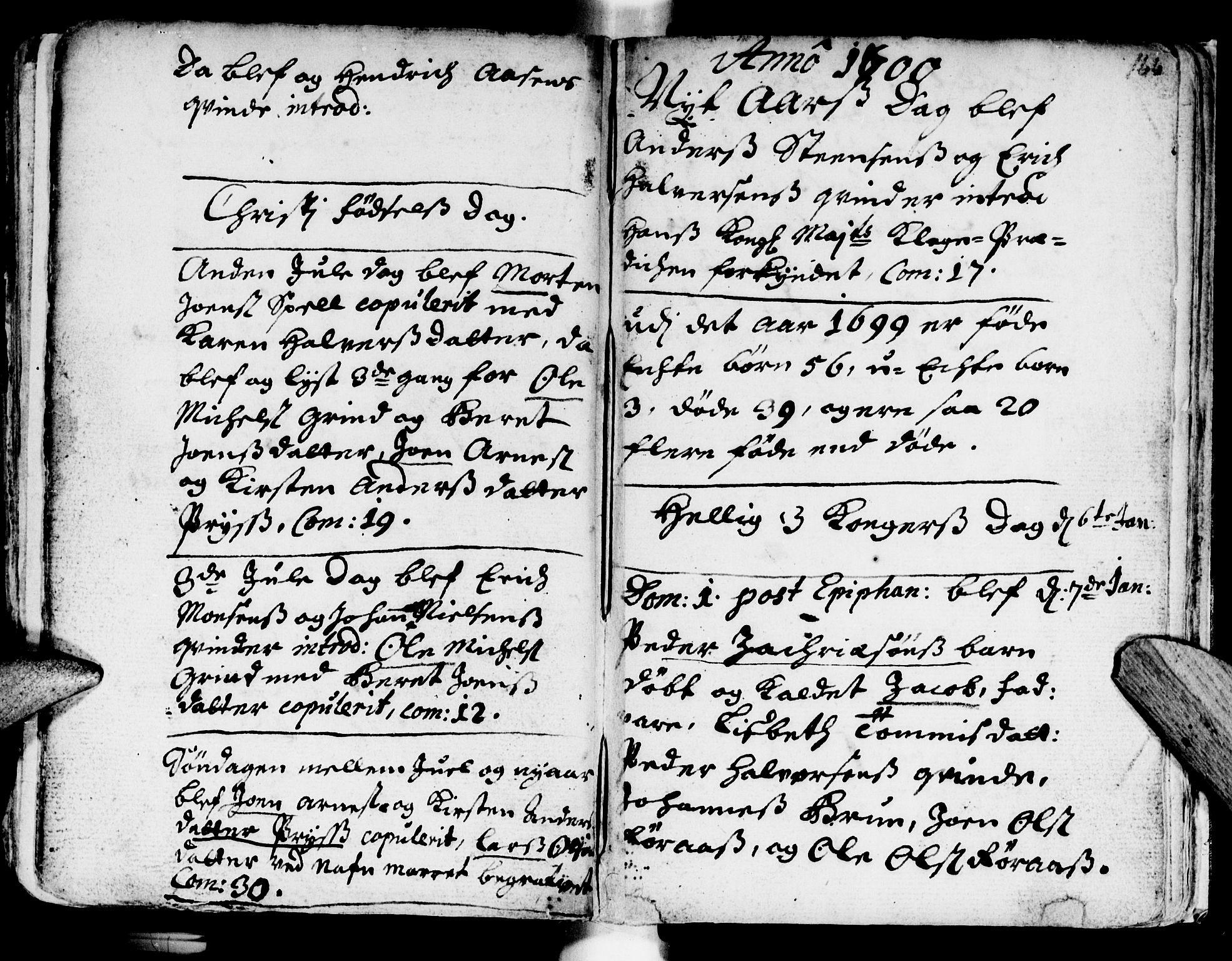SAT, Ministerialprotokoller, klokkerbøker og fødselsregistre - Sør-Trøndelag, 681/L0923: Ministerialbok nr. 681A01, 1691-1700, s. 166