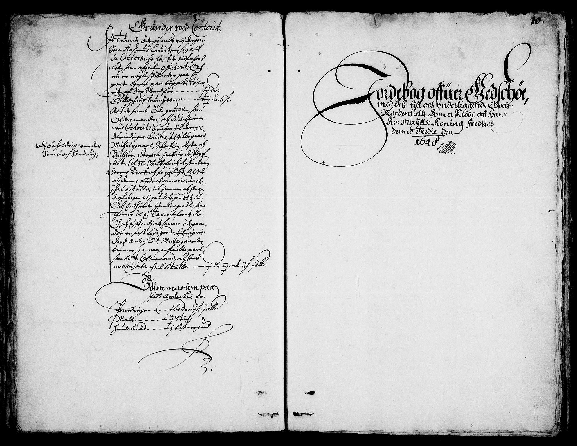 RA, Rentekammeret inntil 1814, Realistisk ordnet avdeling, On/L0001: Statens gods, 1651, s. 1009b-1010a