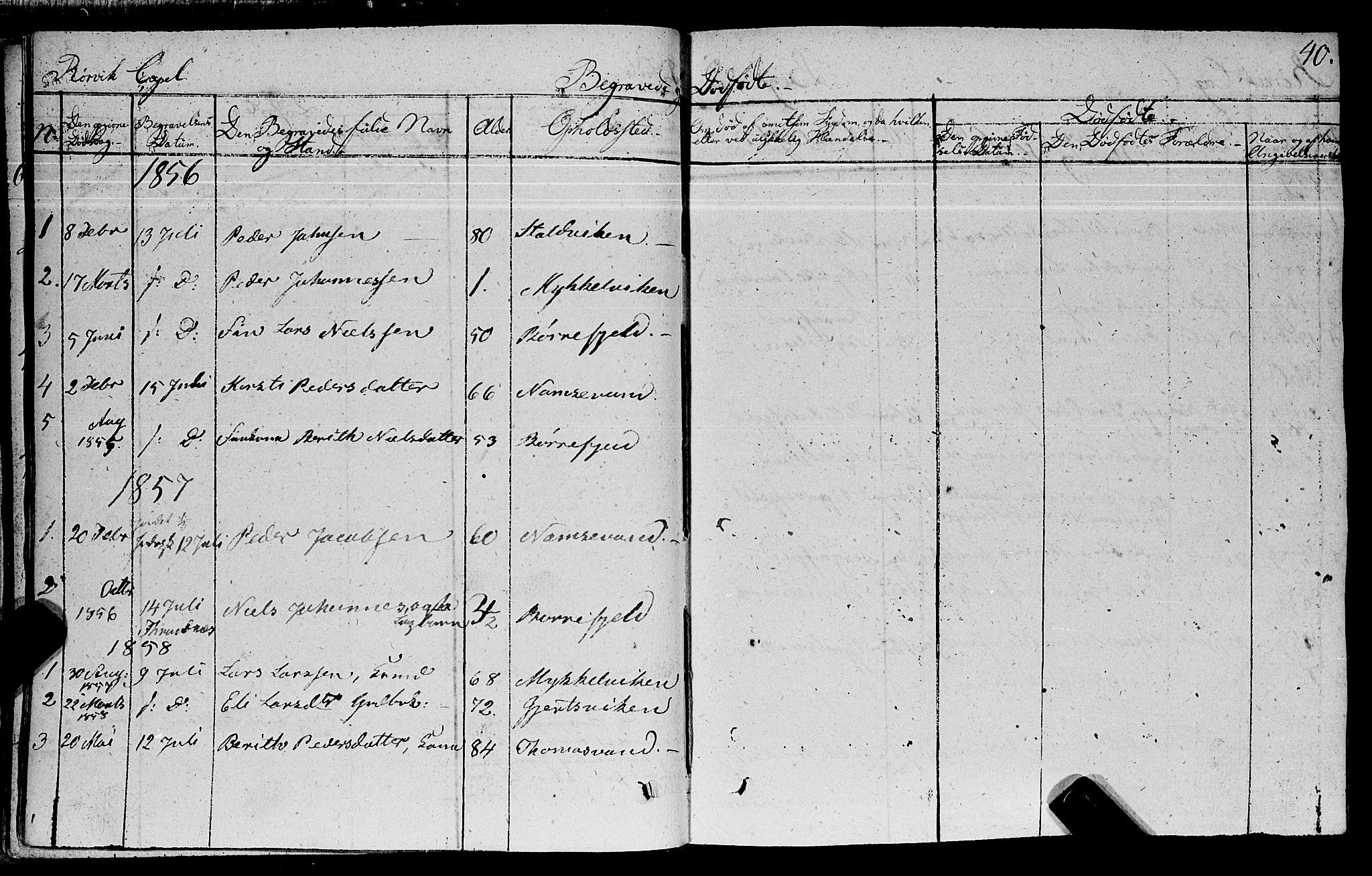 SAT, Ministerialprotokoller, klokkerbøker og fødselsregistre - Nord-Trøndelag, 762/L0538: Ministerialbok nr. 762A02 /1, 1833-1879, s. 40