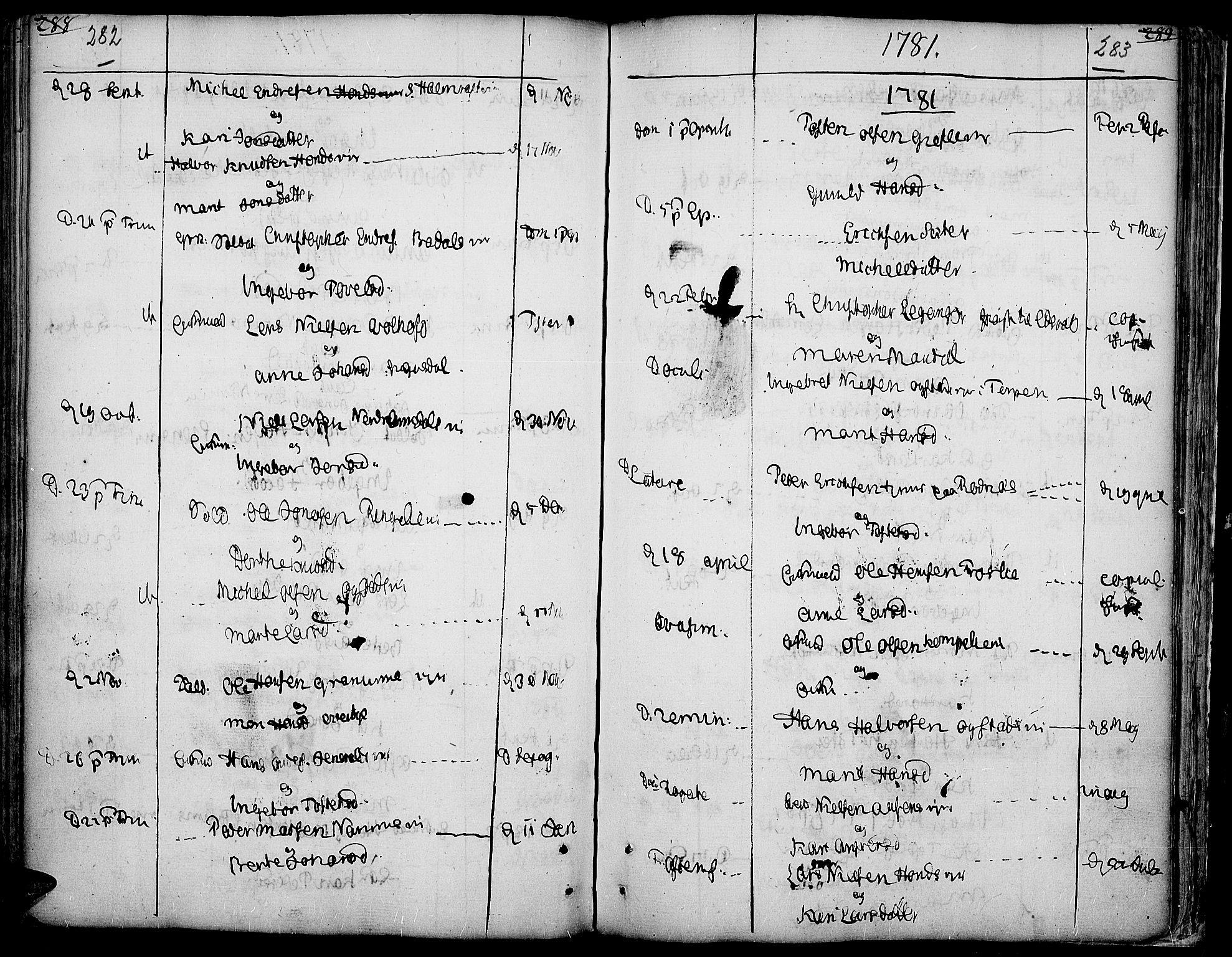 SAH, Land prestekontor, Ministerialbok nr. 5, 1765-1784, s. 282-283