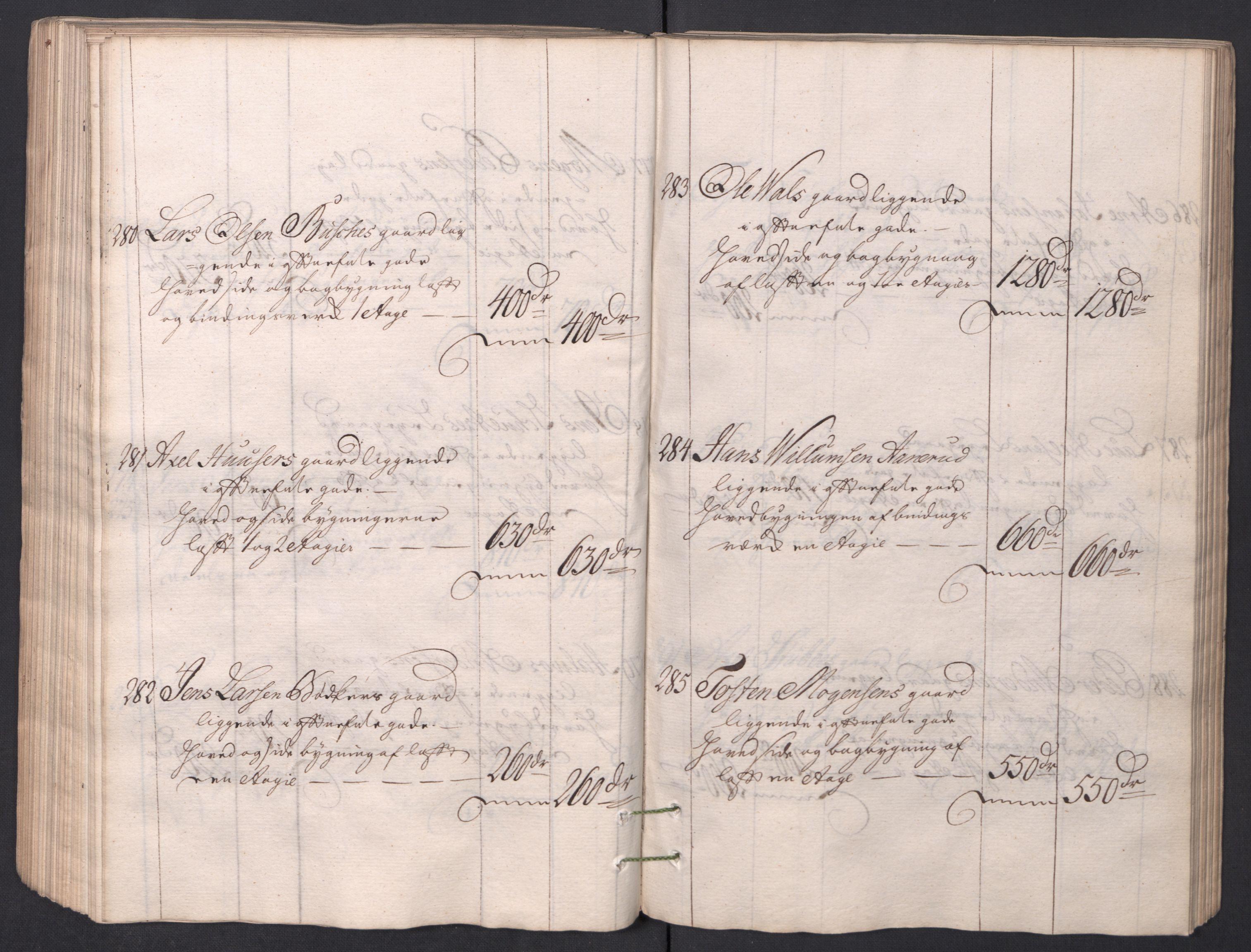 SAO, Kristiania stiftamt, I/Ia/L0001: Branntakster, 1766-1767