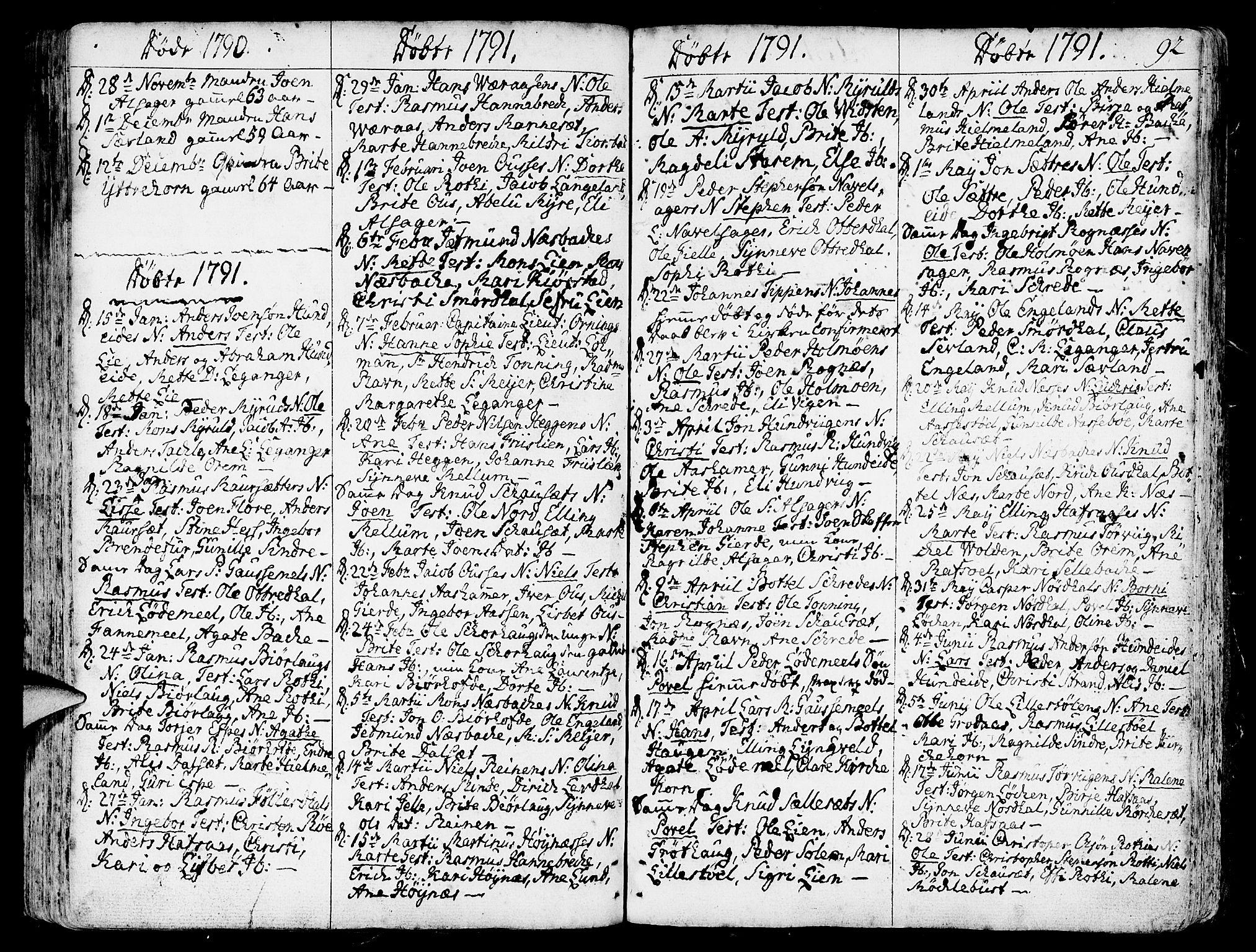 SAB, Eid Sokneprestembete, H/Haa: Ministerialbok nr. A 3, 1770-1805, s. 92