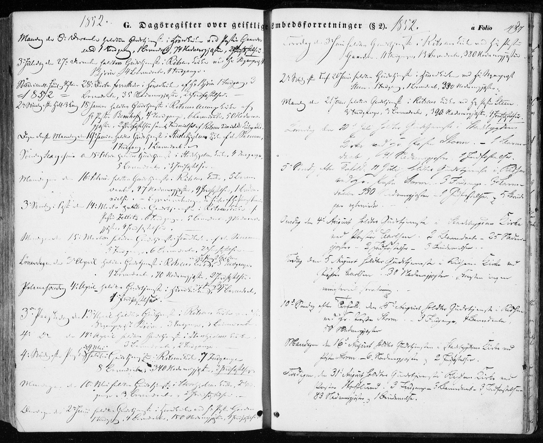 SAT, Ministerialprotokoller, klokkerbøker og fødselsregistre - Sør-Trøndelag, 646/L0611: Ministerialbok nr. 646A09, 1848-1857, s. 457