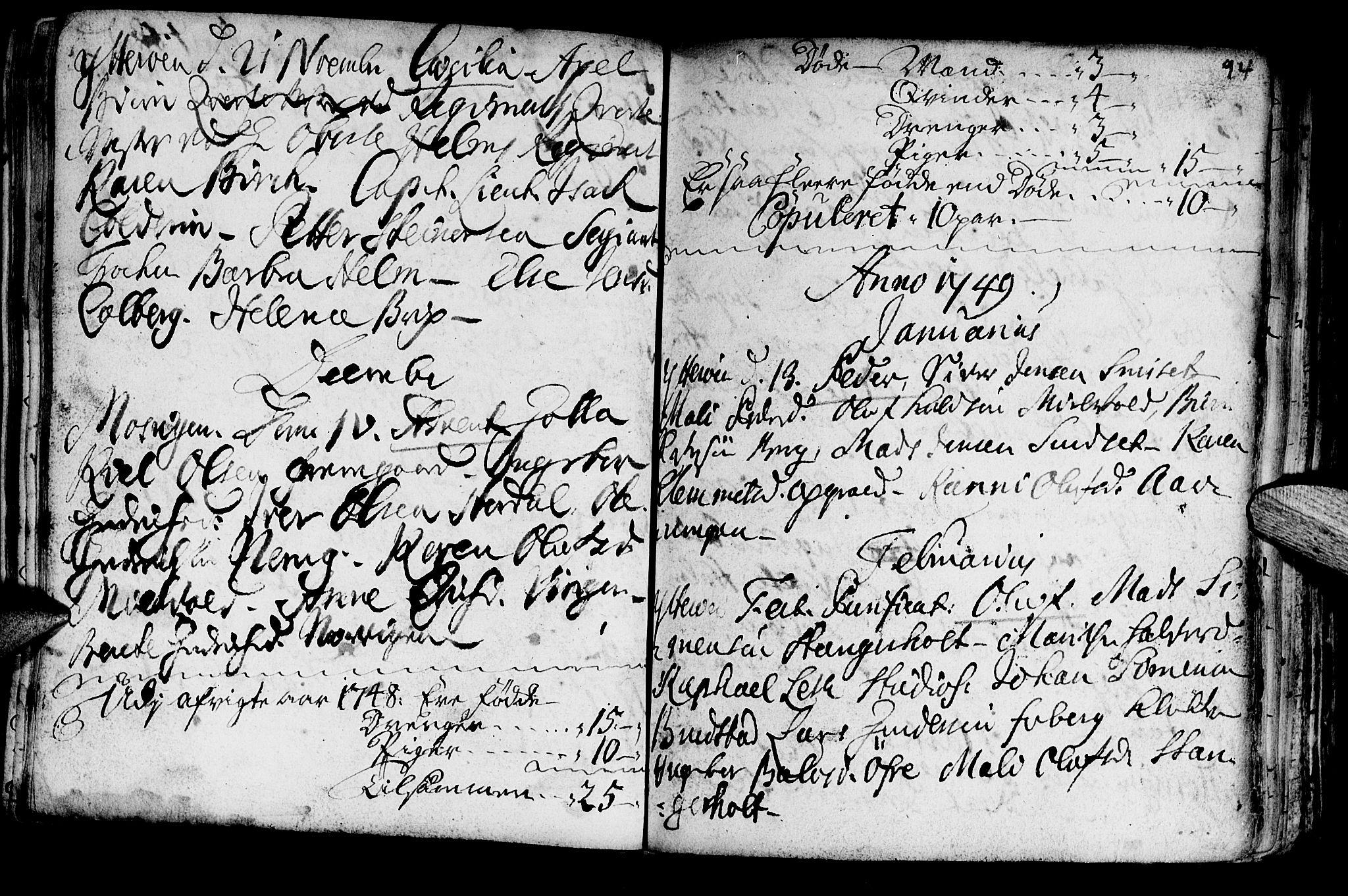 SAT, Ministerialprotokoller, klokkerbøker og fødselsregistre - Nord-Trøndelag, 722/L0215: Ministerialbok nr. 722A02, 1718-1755, s. 94