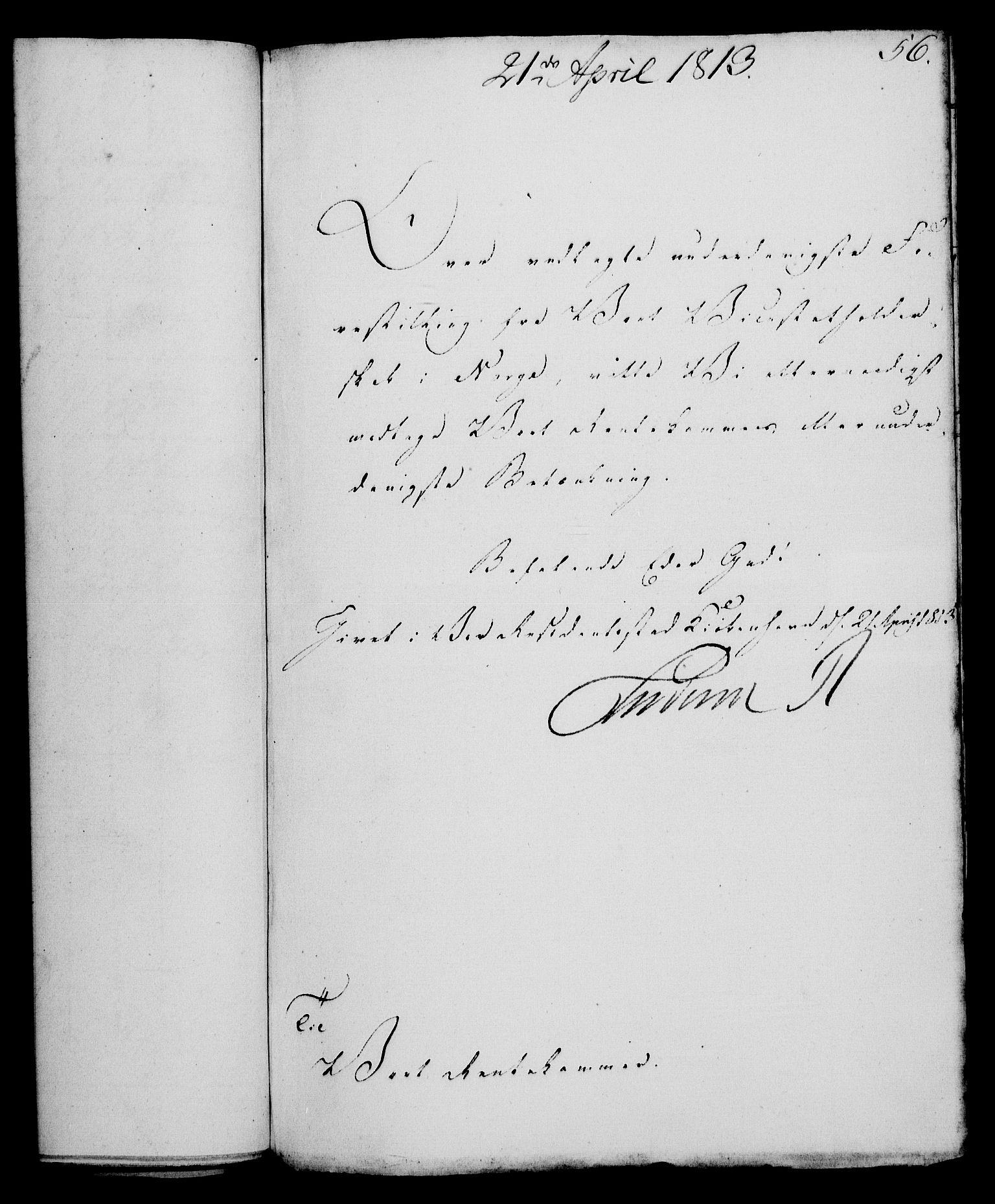 RA, Rentekammeret, Kammerkanselliet, G/Gf/Gfa/L0095: Norsk relasjons- og resolusjonsprotokoll (merket RK 52.95), 1813-1814, s. 219