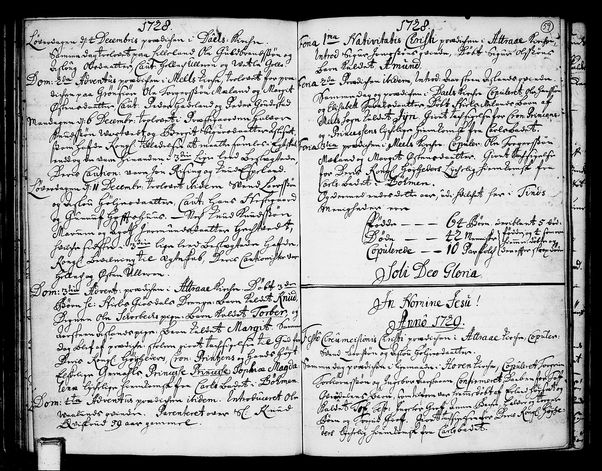 SAKO, Tinn kirkebøker, F/Fa/L0001: Ministerialbok nr. I 1, 1717-1734, s. 59