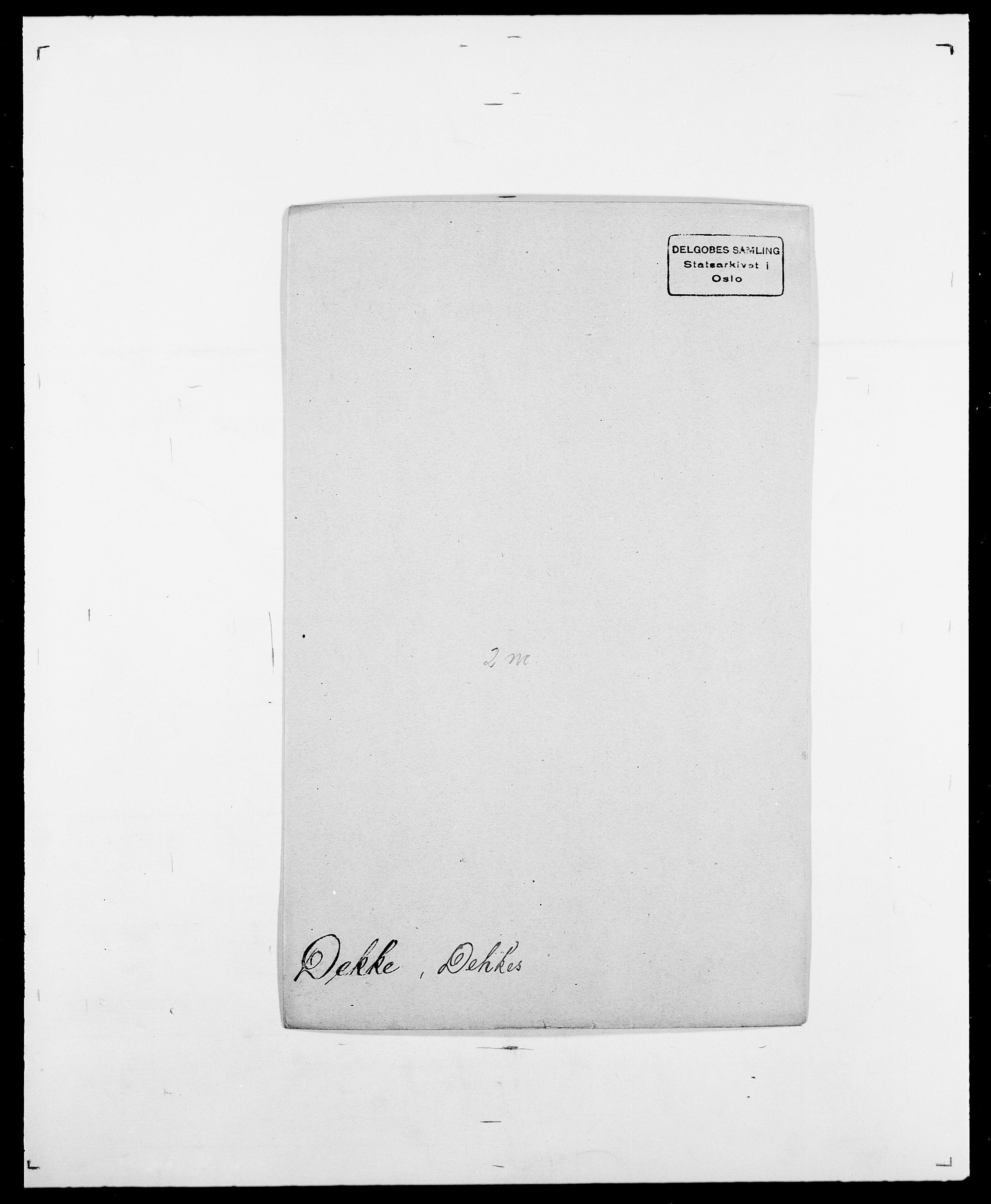 SAO, Delgobe, Charles Antoine - samling, D/Da/L0009: Dahl - v. Düren, s. 463